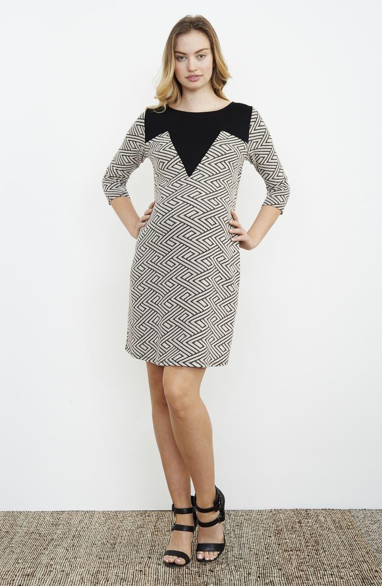 Geo Print Maternity Dress