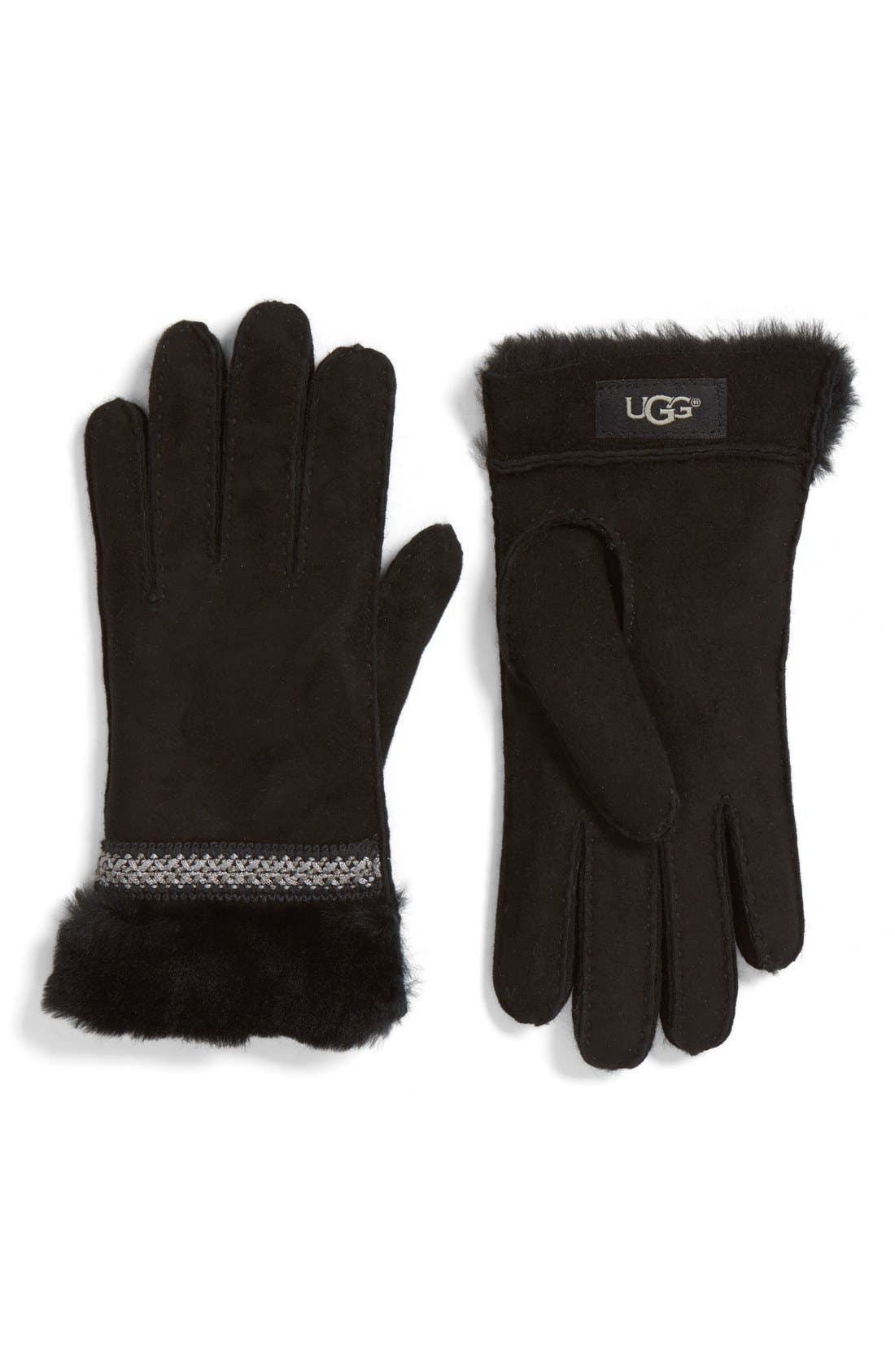 Main Image - UGG® Classic Tasman Genuine Shearling Gloves