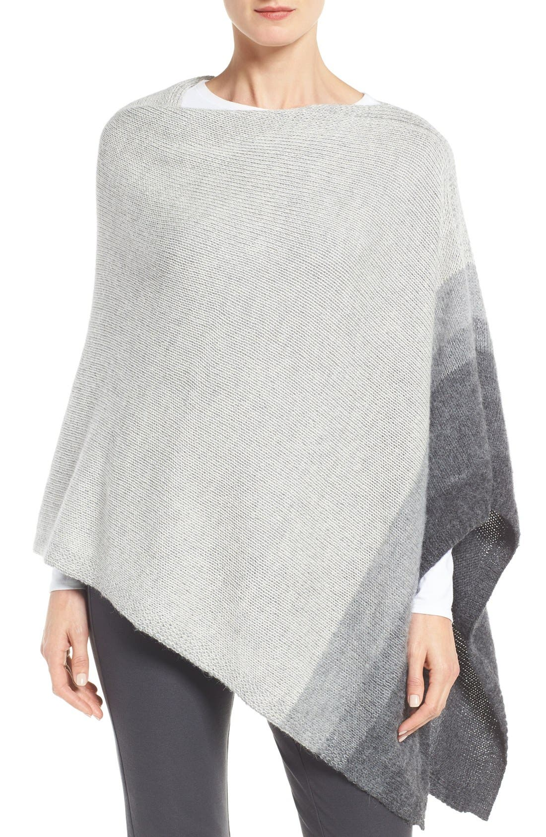 Alternate Image 1 Selected - Eileen Fisher Ombré Alpaca Poncho