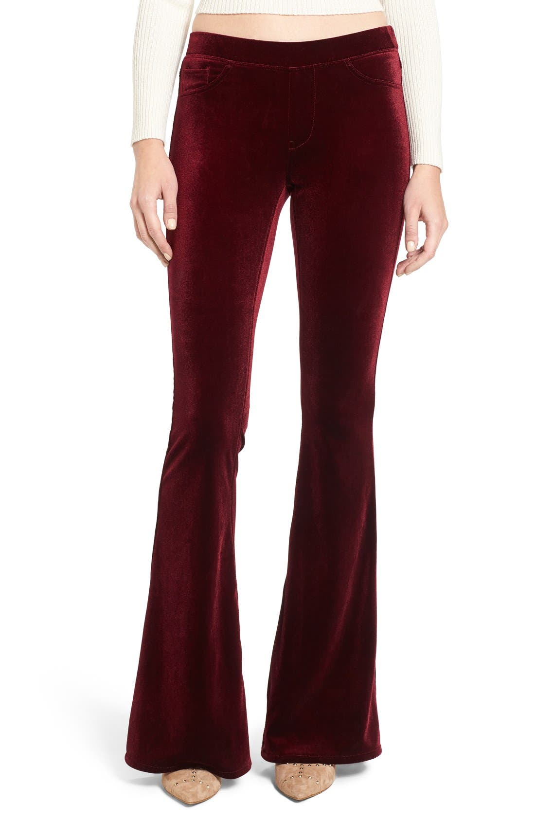Alternate Image 1 Selected - BLANKNYC Velvet Flare Pants