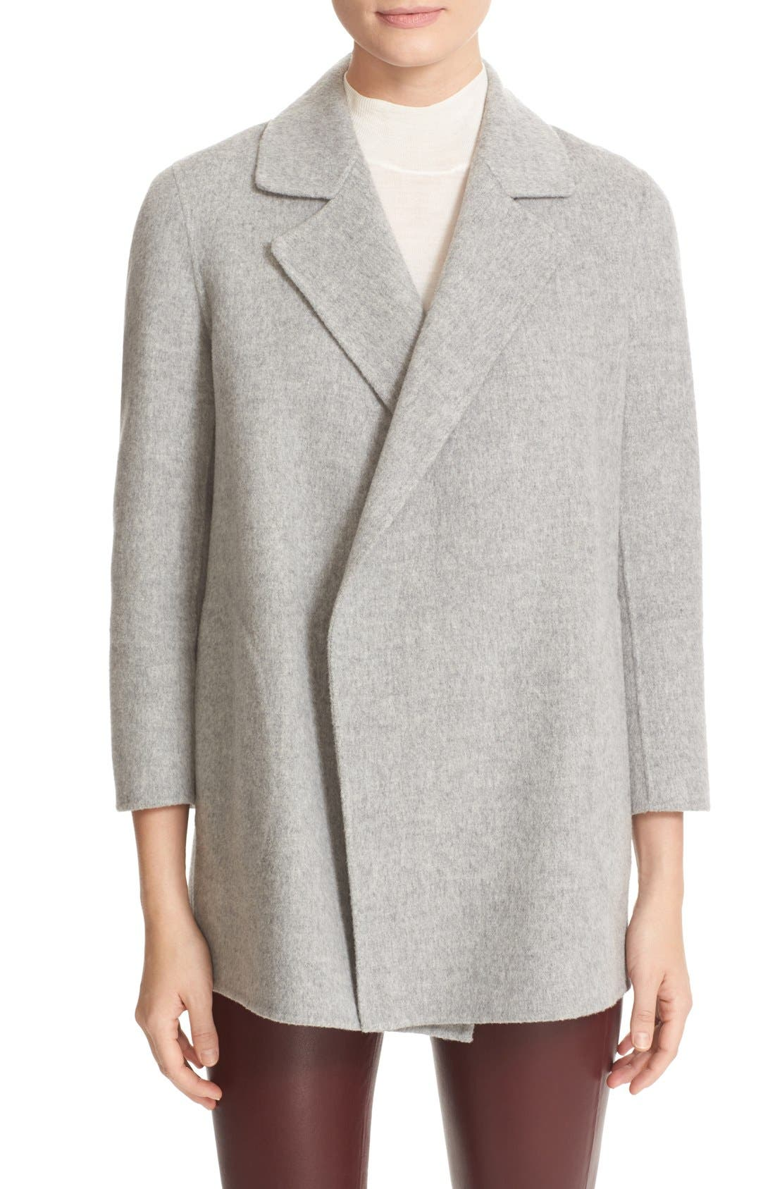 Main Image - Theory 'Clairene New Divide' Wool & Cashmere Open Front Topper