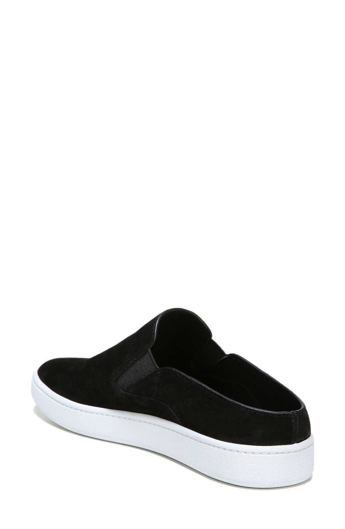 Verrell Slip-On Sneaker,                             Alternate thumbnail 2, color,                             Black Suede