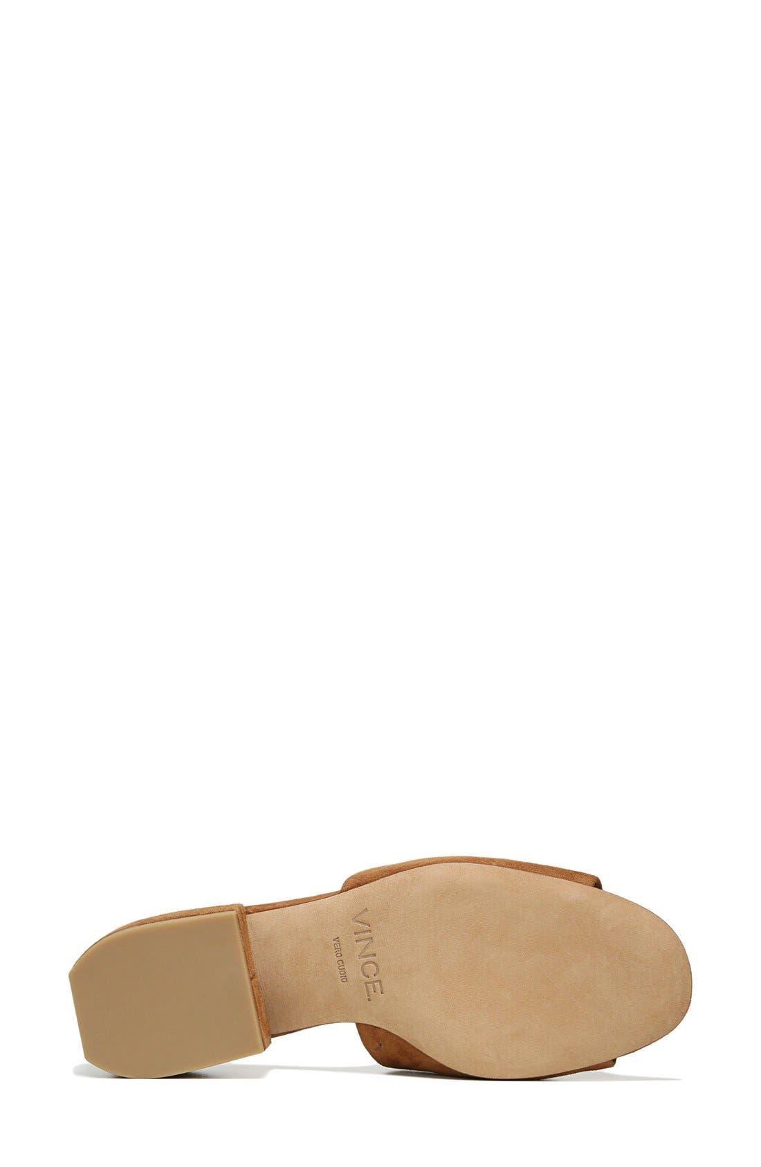 Rachelle Slide Sandal,                             Alternate thumbnail 4, color,                             Cedar