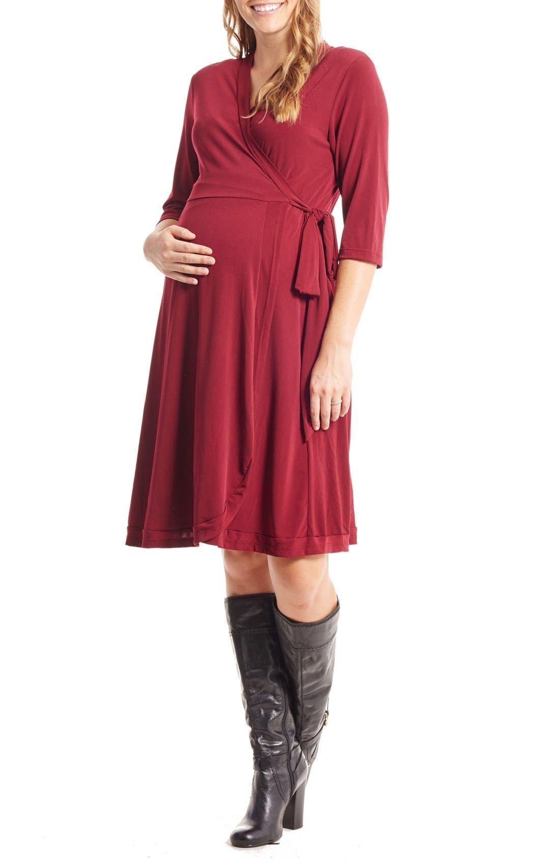 Main Image - Everly Grey Mila Wrap Maternity/Nursing Dress