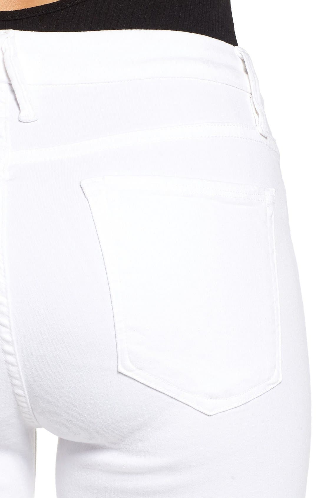 Alternate Image 4  - Good American Good Legs High Rise Skinny Jeans (White 001) (Extended Sizes)