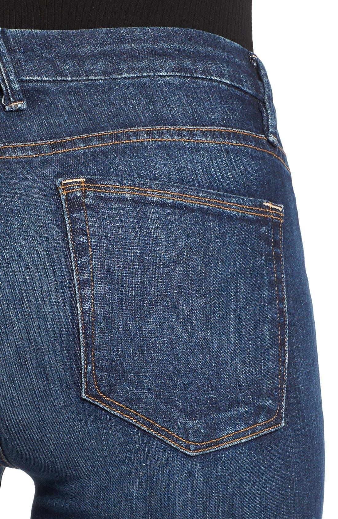 Alternate Image 4  - Good American Good Legs High Rise Skinny Jeans (Blue 004)
