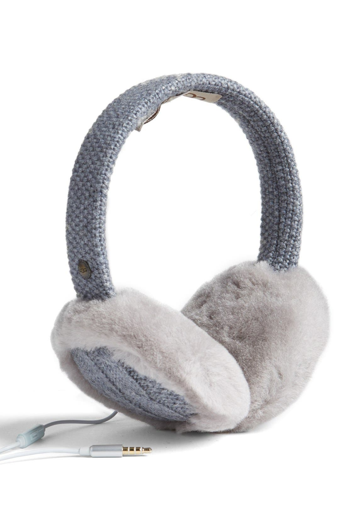 Main Image - UGG® Genuine Shearling Headphone Earmuffs