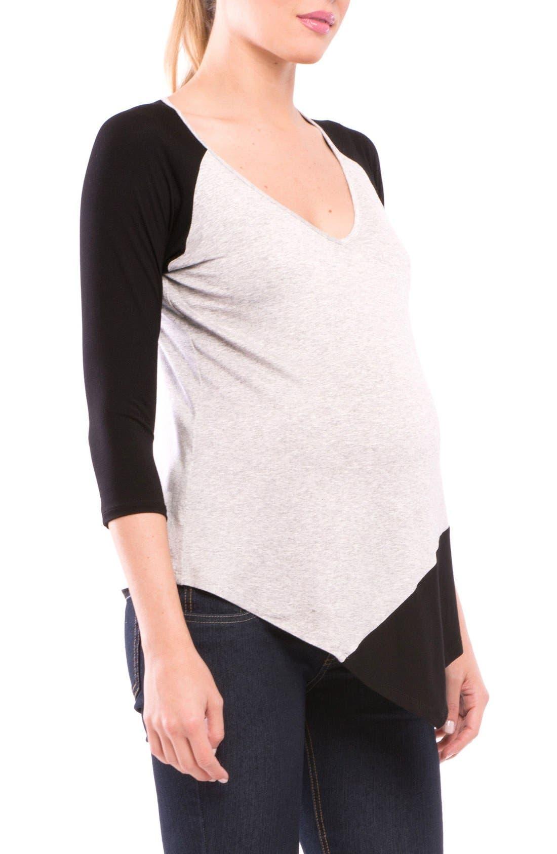 Alternate Image 5  - Olian Margarette Maternity Tee