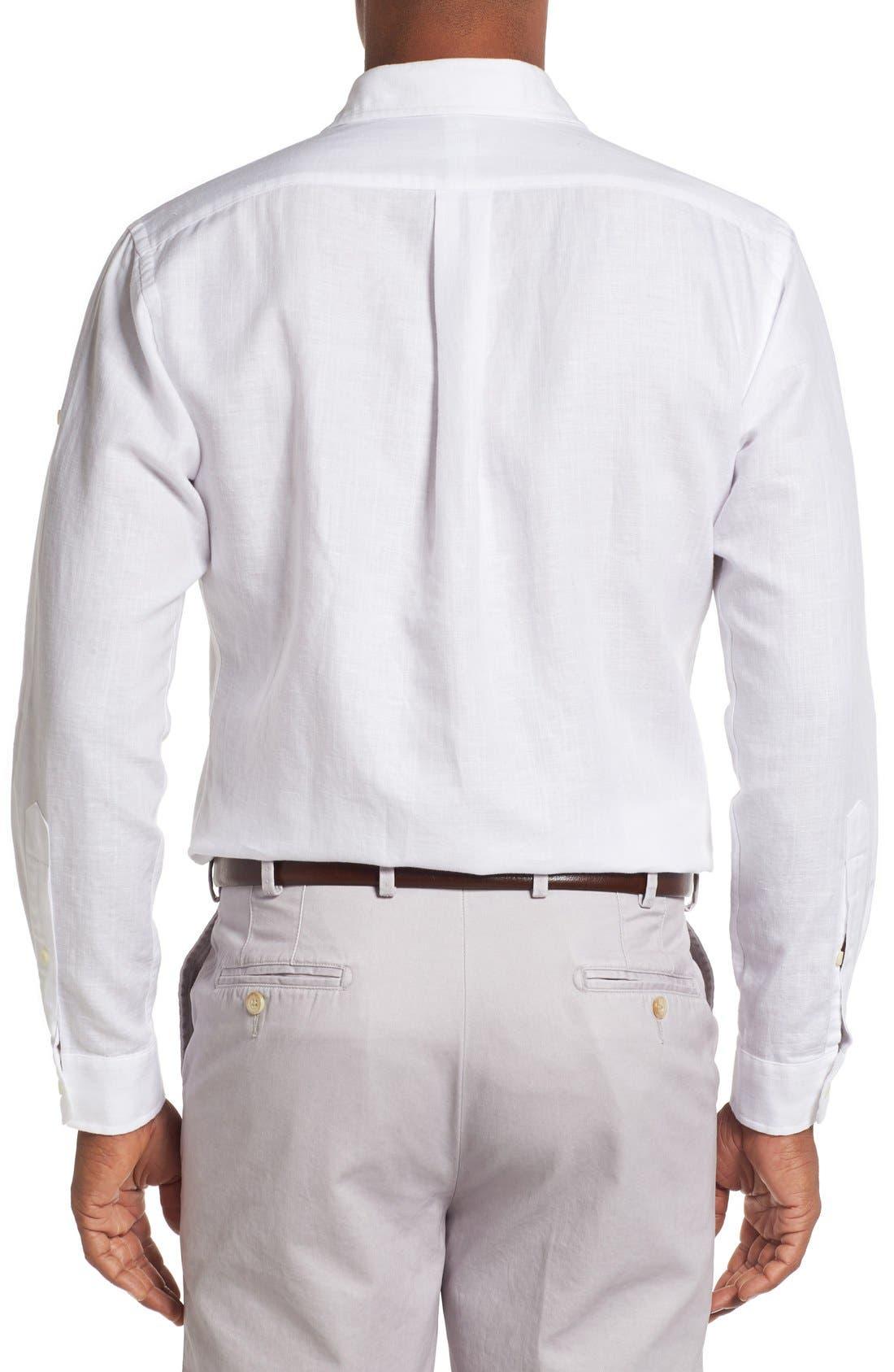 Alternate Image 2  - Peter Millar Harkers Herringbone Regular Fit Sport Shirt
