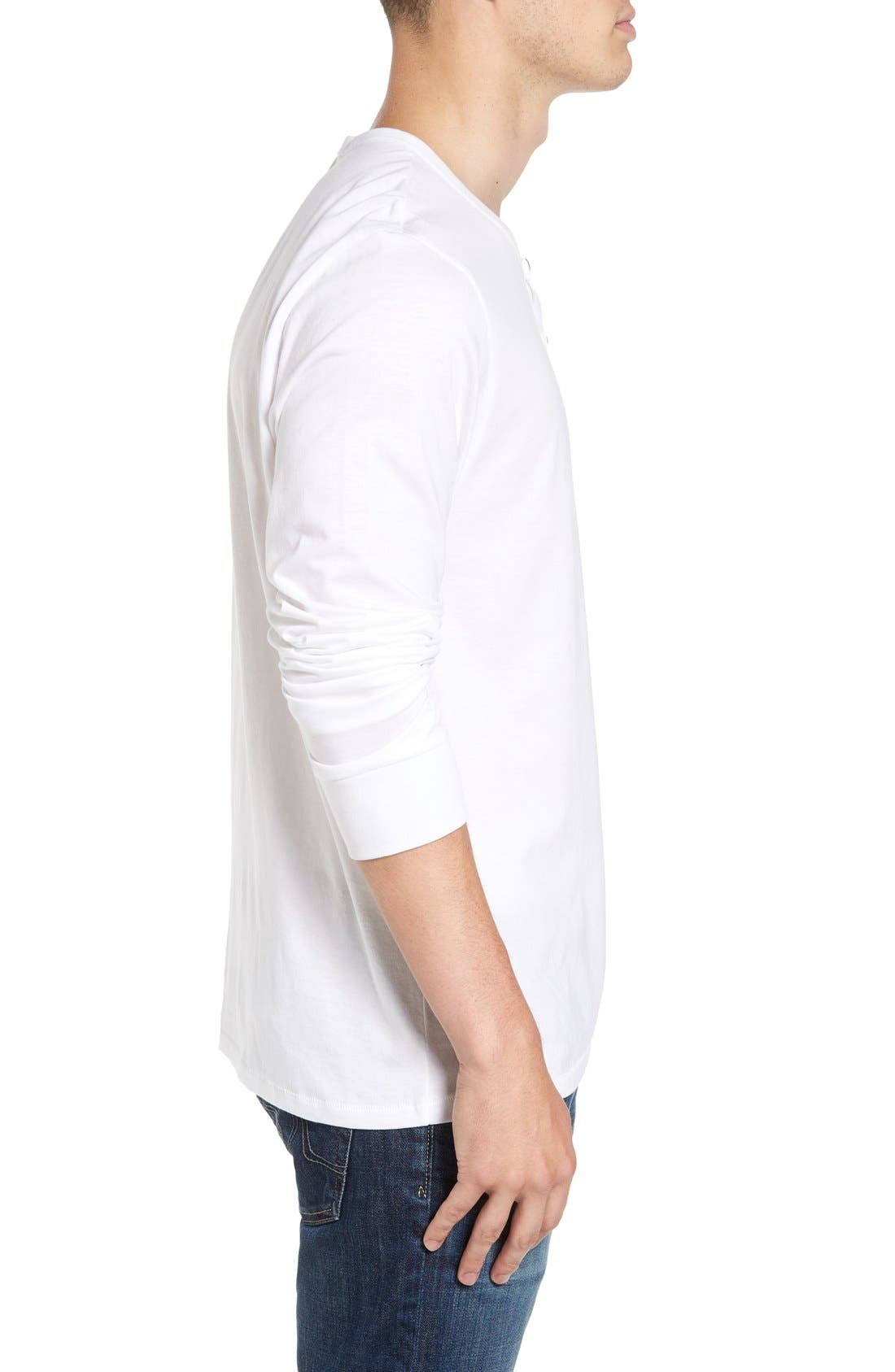 Classic Henley,                             Alternate thumbnail 3, color,                             White