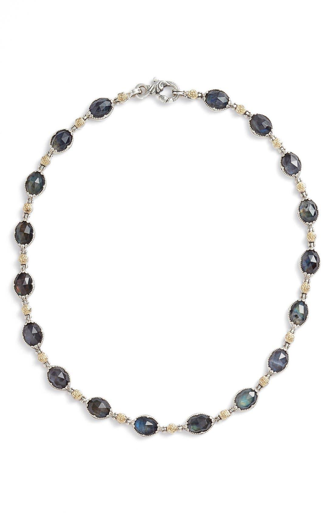 Cassiopeia Collar Necklace,                             Main thumbnail 1, color,                             Labradorite