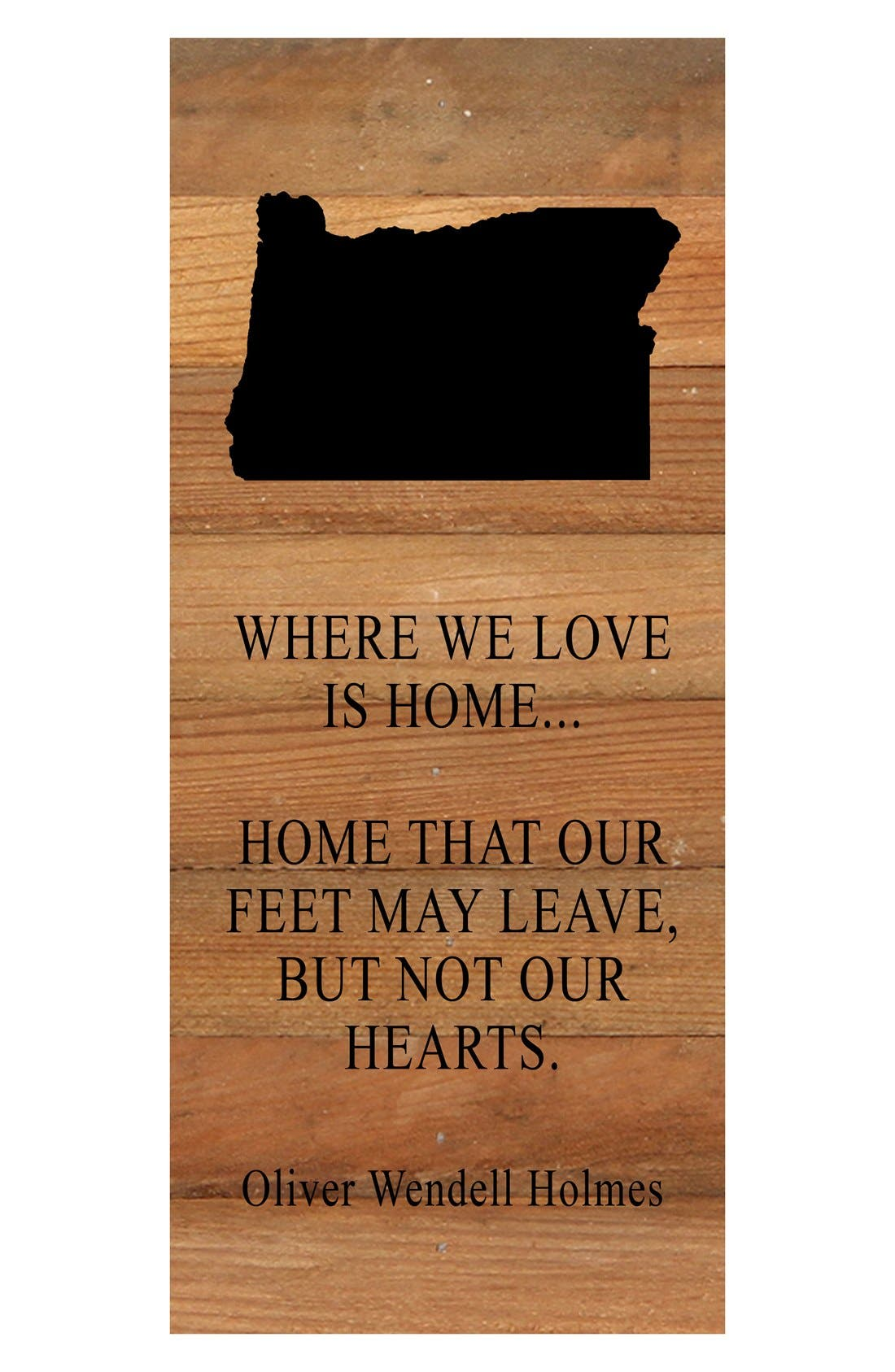 Second Nature 'Where We Love is Home' Reclaimed Wood Wall Art