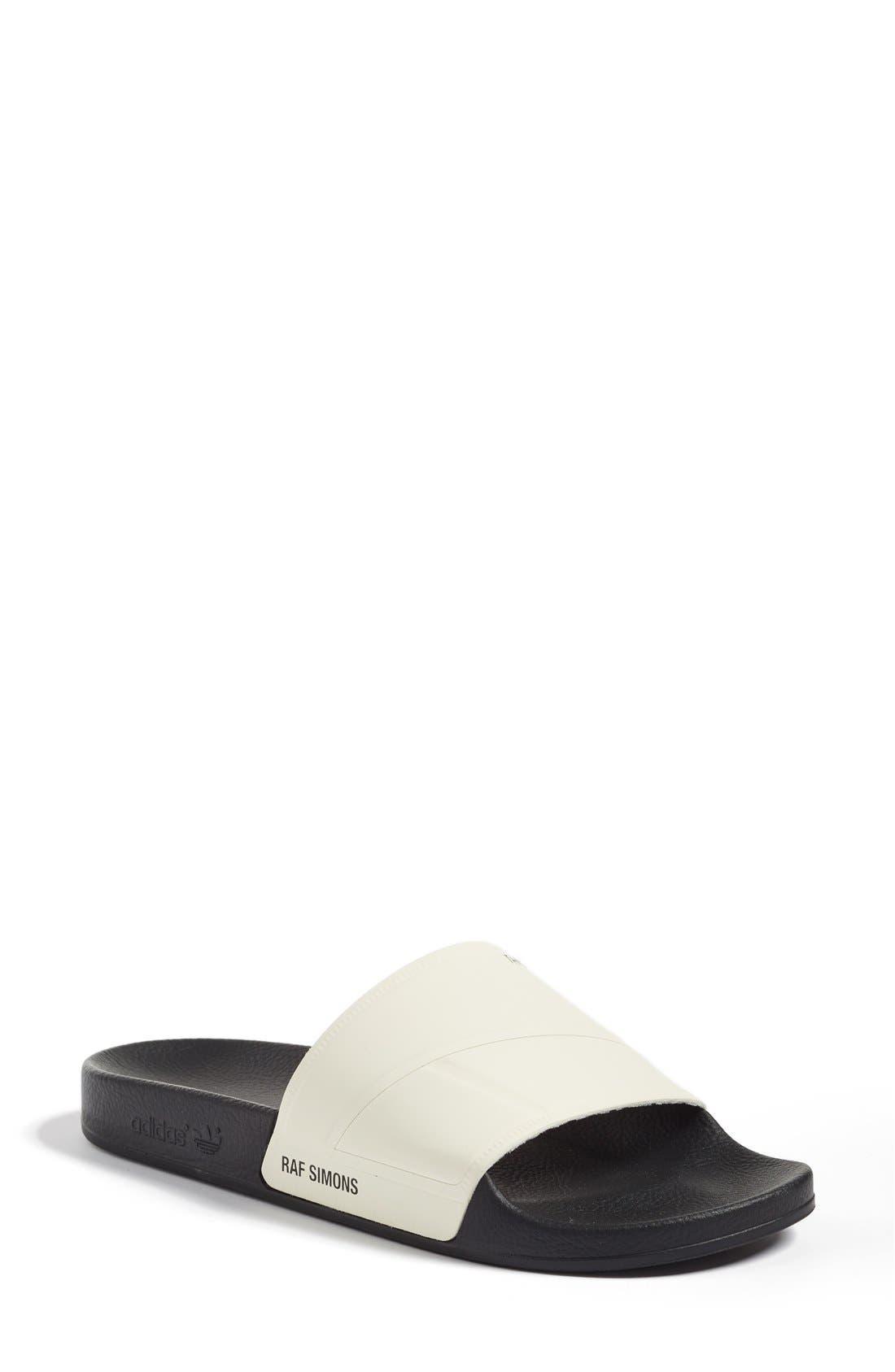 Bunny Adilette Slide Sandal,                         Main,                         color, Cream White