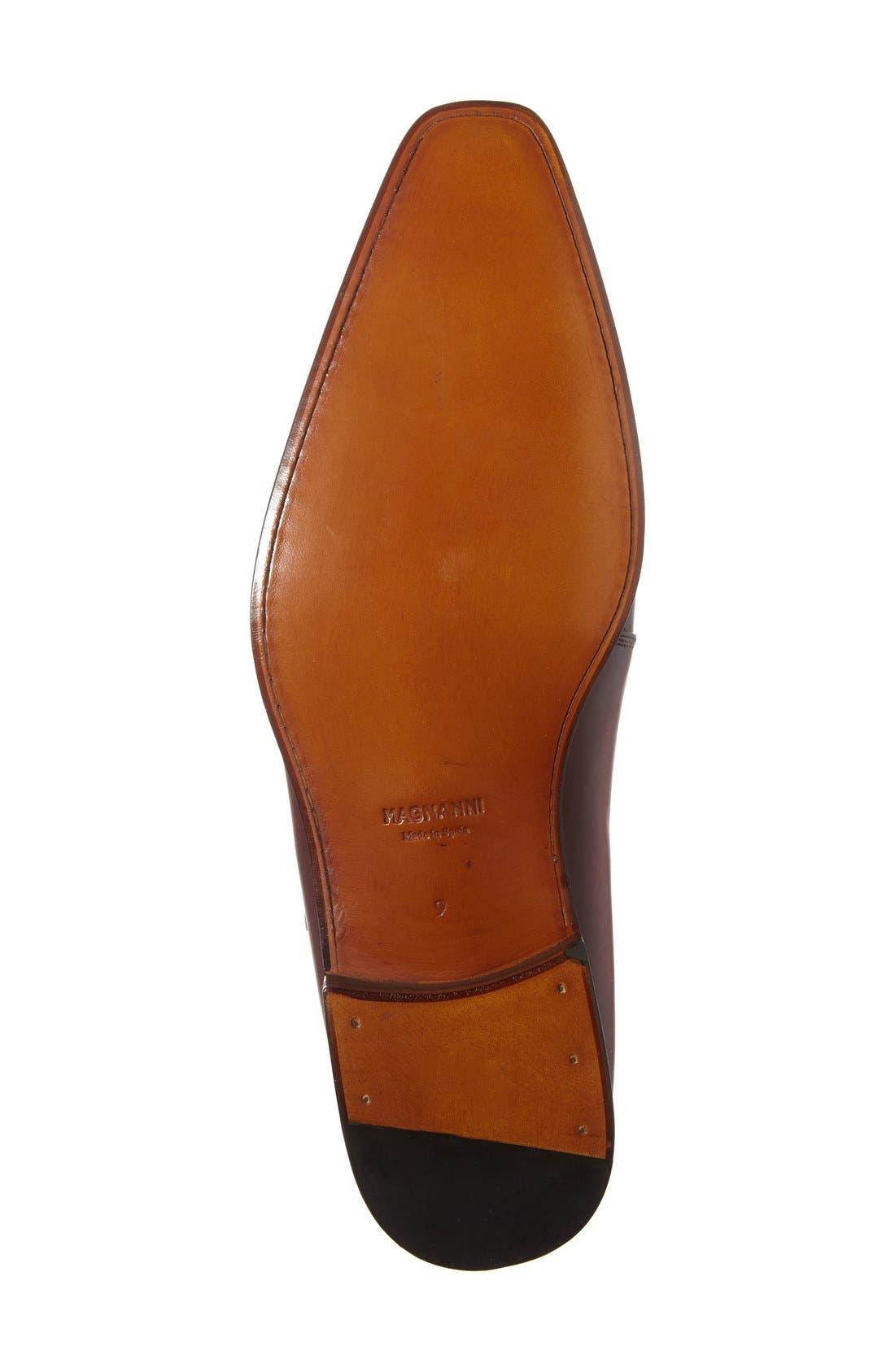 Efren Monk Strap Shoe,                             Alternate thumbnail 4, color,                             Red