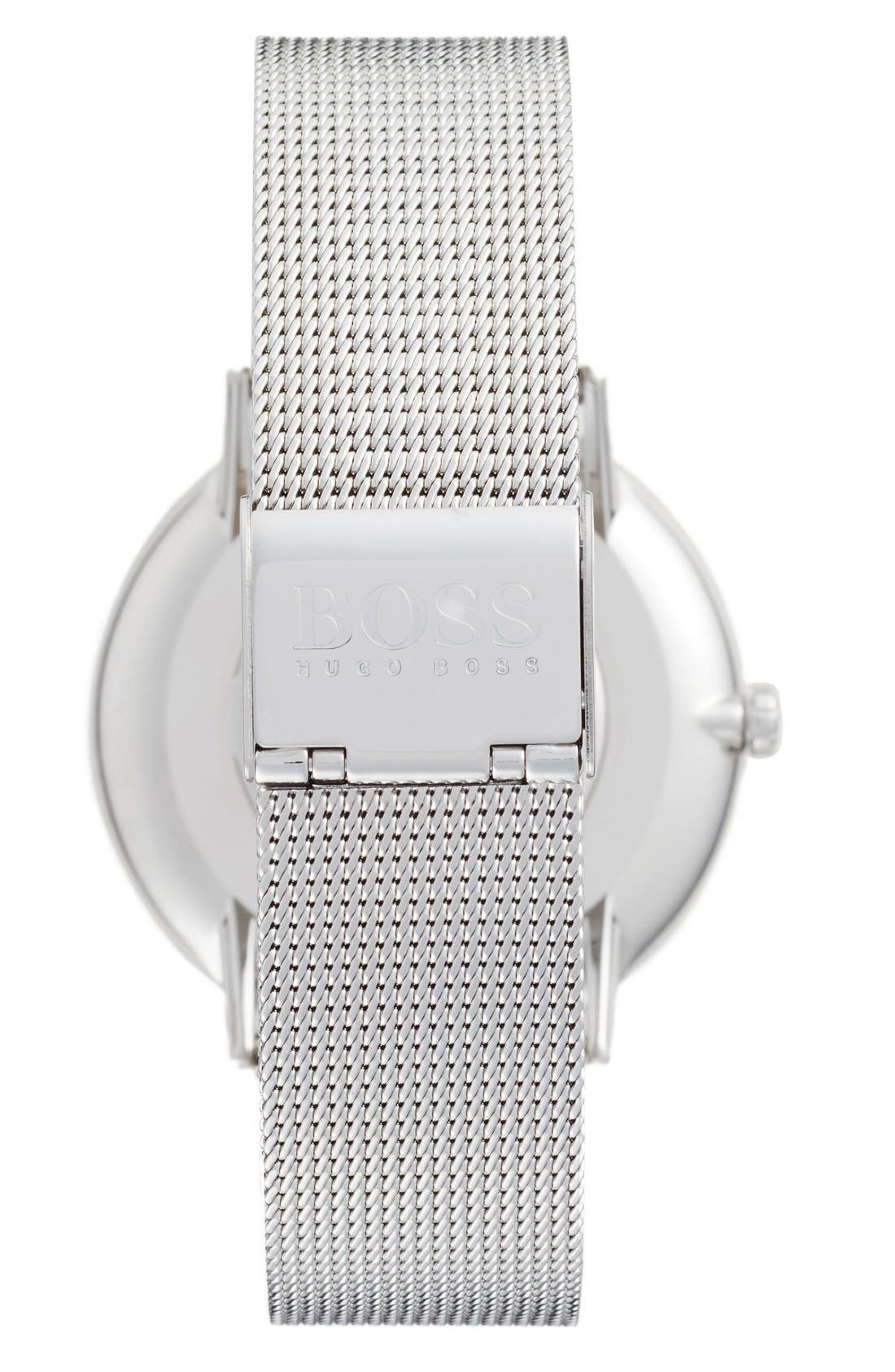 Slim Jackson Mesh Strap Watch, 40mm,                             Alternate thumbnail 2, color,                             Silver/ Silver