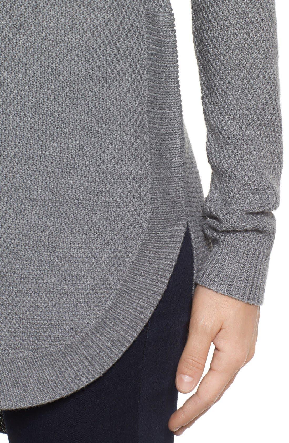 Alternate Image 4  - Caslon® Texture Knit Tunic (Regular & Petite)