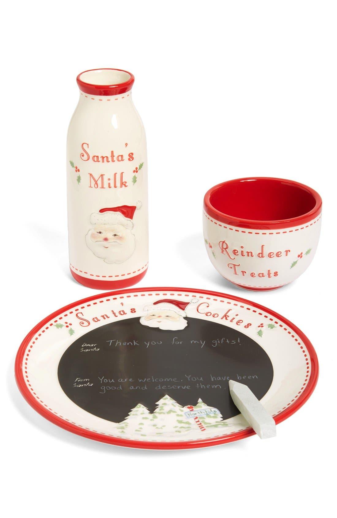 Child to Cherish Santa's Message Plate, Bowl & Bottle Set