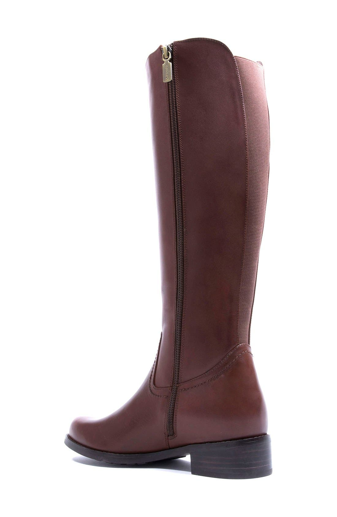 'Velvet' Waterproof Riding Boot,                             Alternate thumbnail 2, color,                             Butterscotch Leather