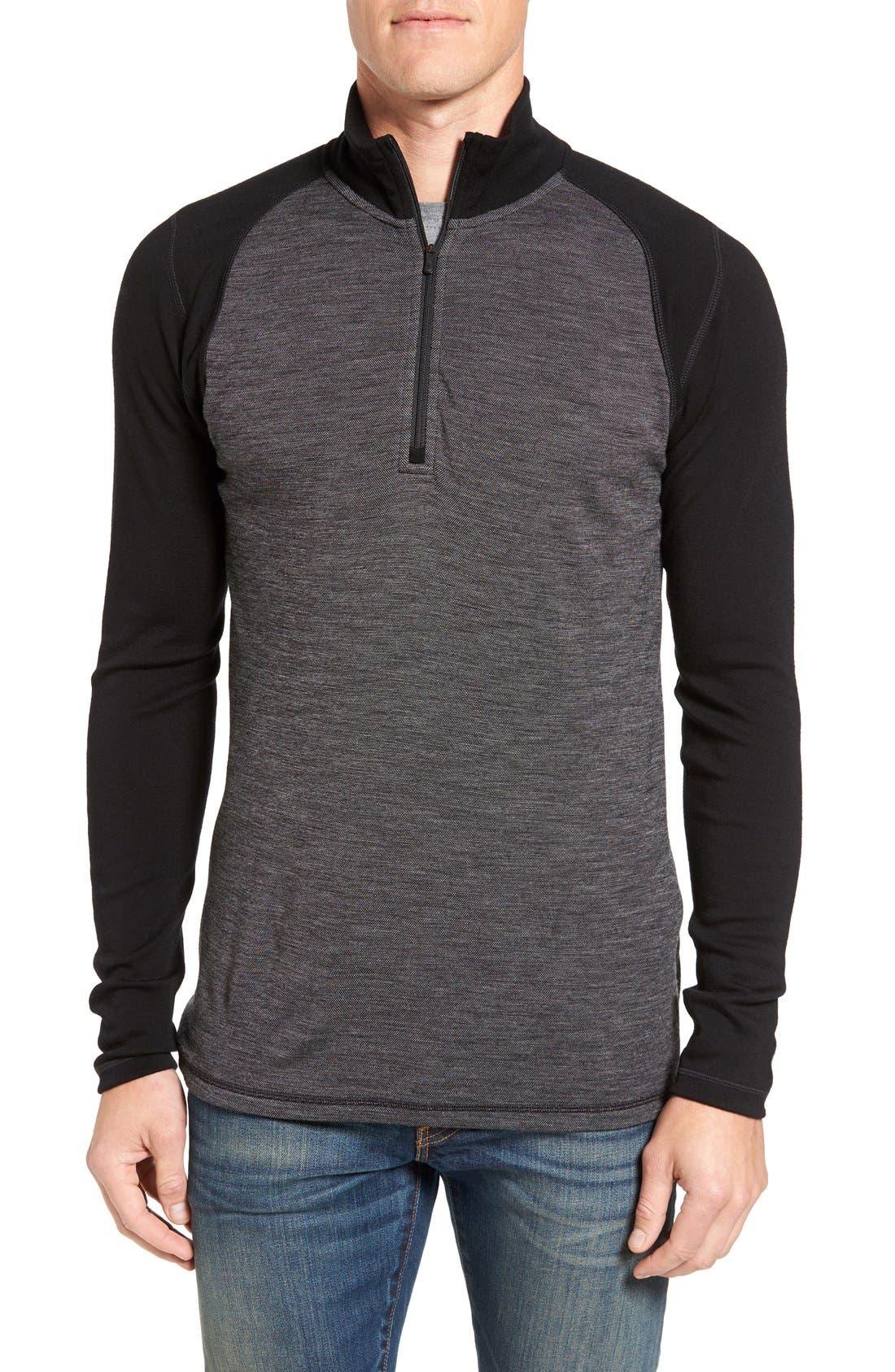 Smartwool Mid 250 Quarter Zip Merino Wool Pullover