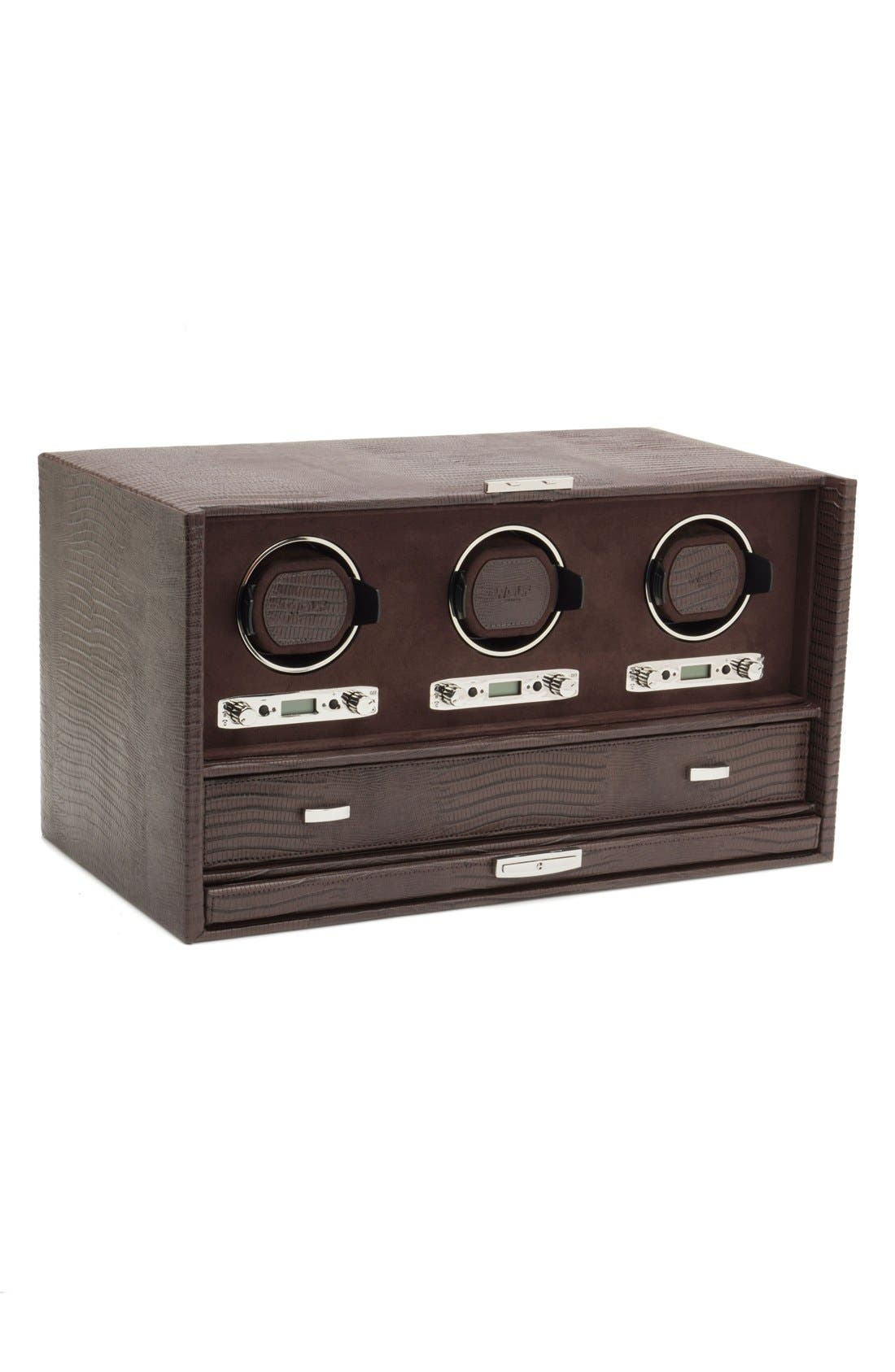 Alternate Image 5  - Wolf Blake Triple Watch Winder & Case