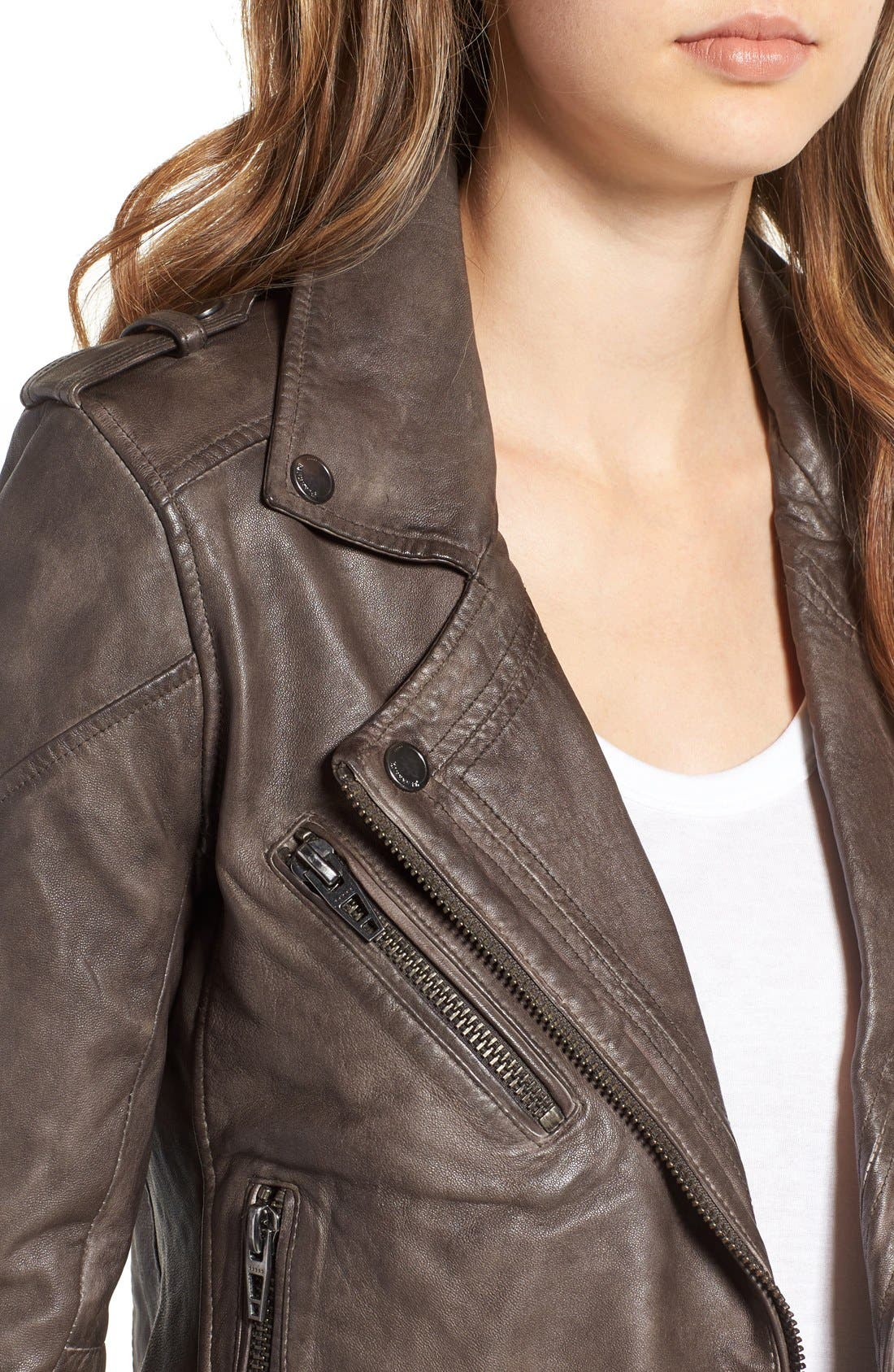 Alternate Image 4  - BLANKNYC Genuine Leather Moto Jacket