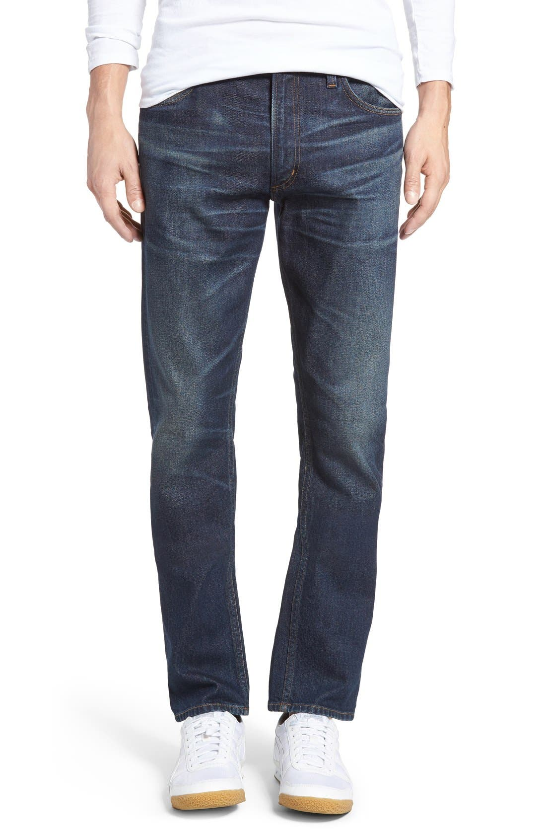 Bowery Slim Fit Jeans,                             Main thumbnail 1, color,                             Hesperia