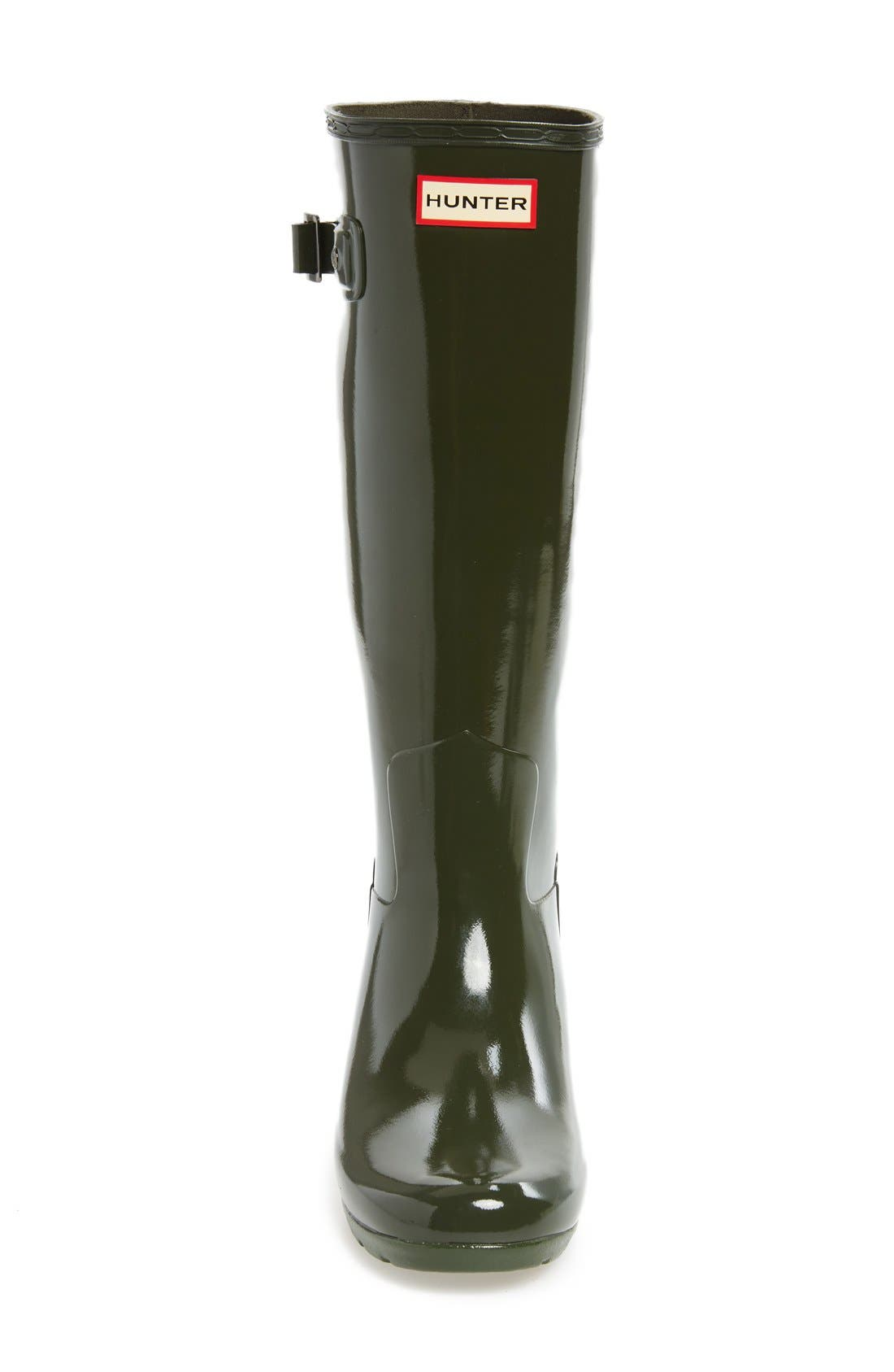'Original Refined' High Gloss Rain Boot,                             Alternate thumbnail 5, color,                             Dark Olive
