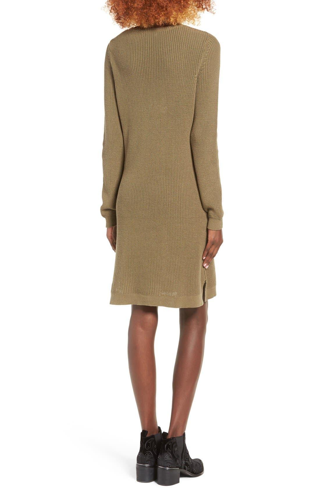 Alternate Image 2  - BP. Shaker Stitch Sweater Dress