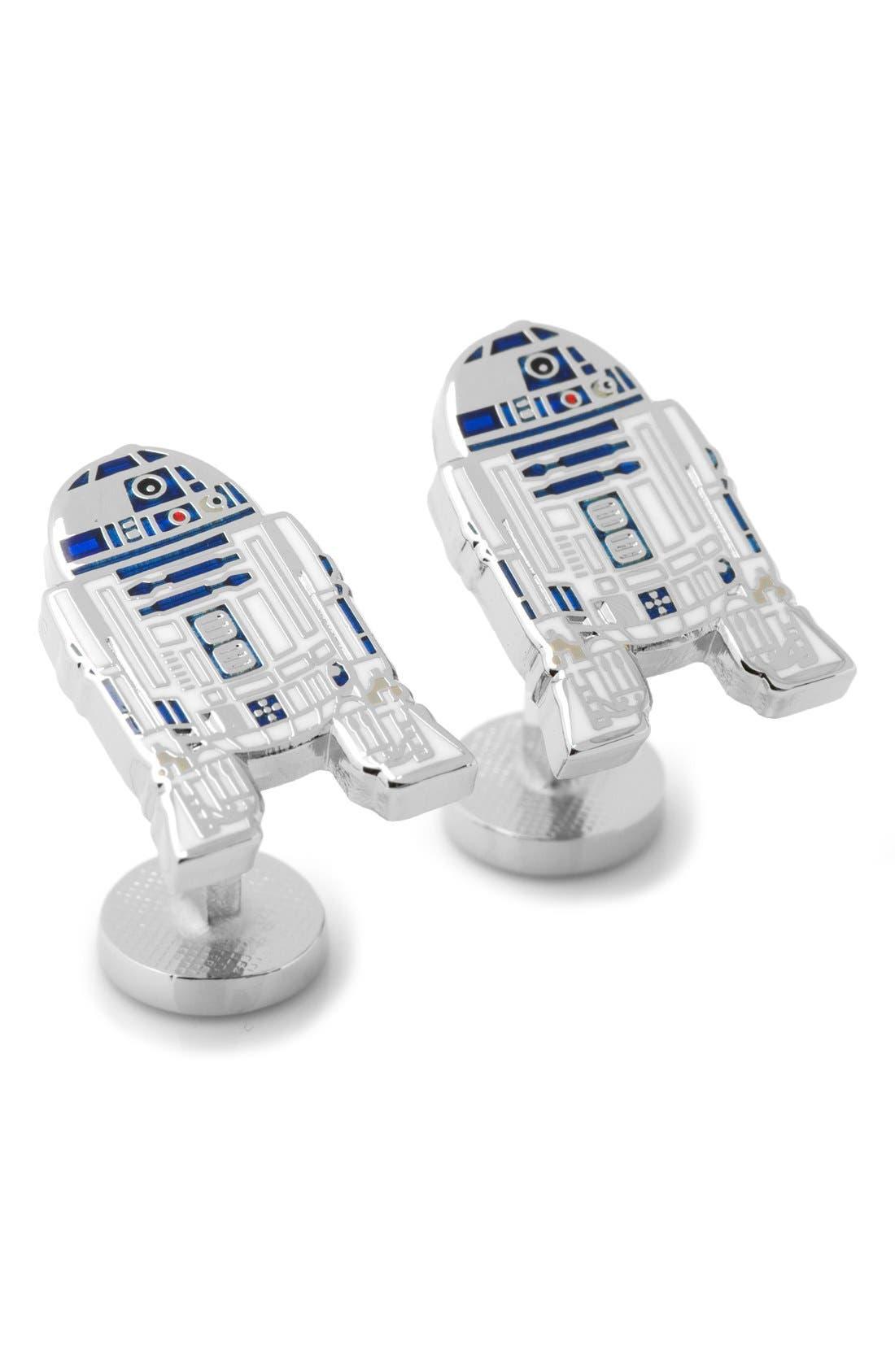Star Wars R2D2 Cuff Links,                         Main,                         color, Grey Multi