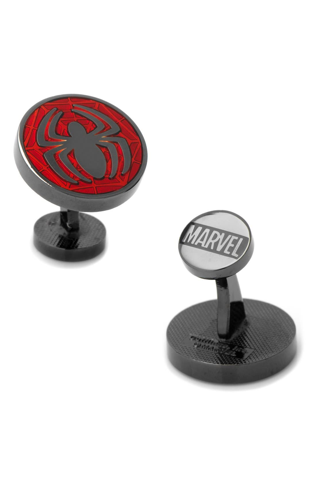 Marvel Spider-Man Cuff Links,                             Main thumbnail 1, color,                             Red