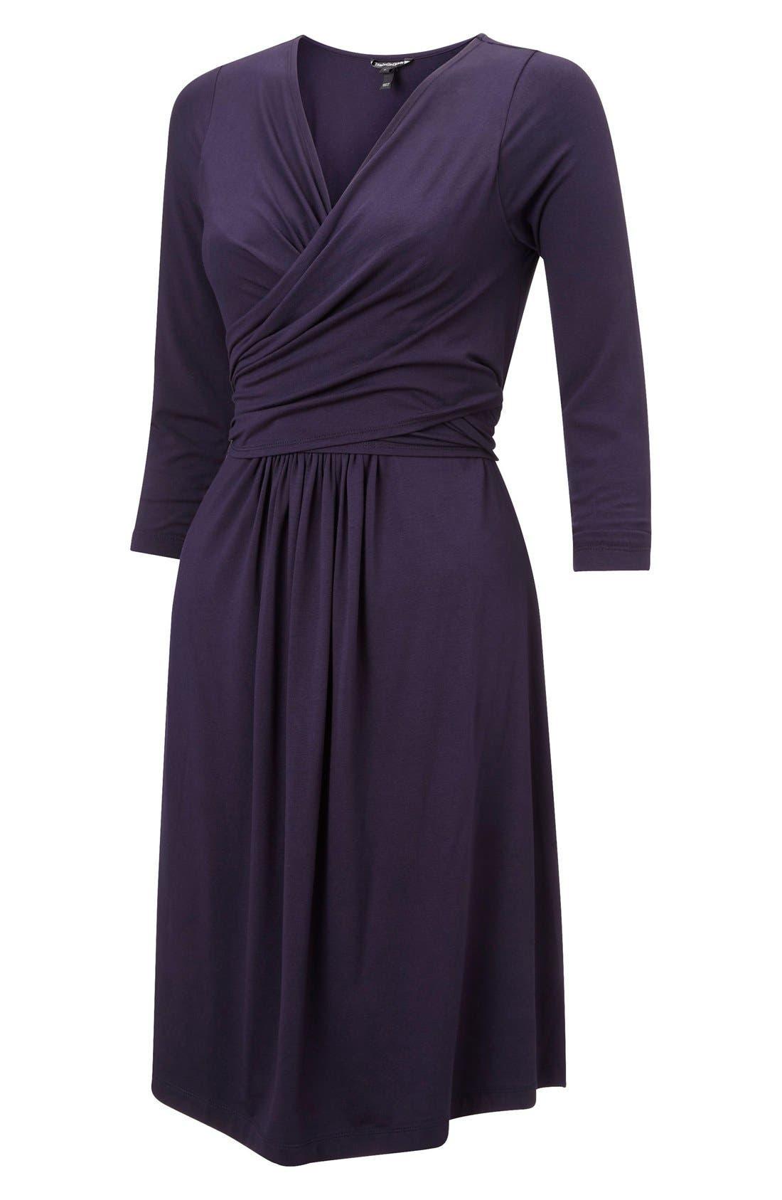 'Avebury' Nursing Wrap Maternity Dress,                             Main thumbnail 1, color,                             Darkest Navy