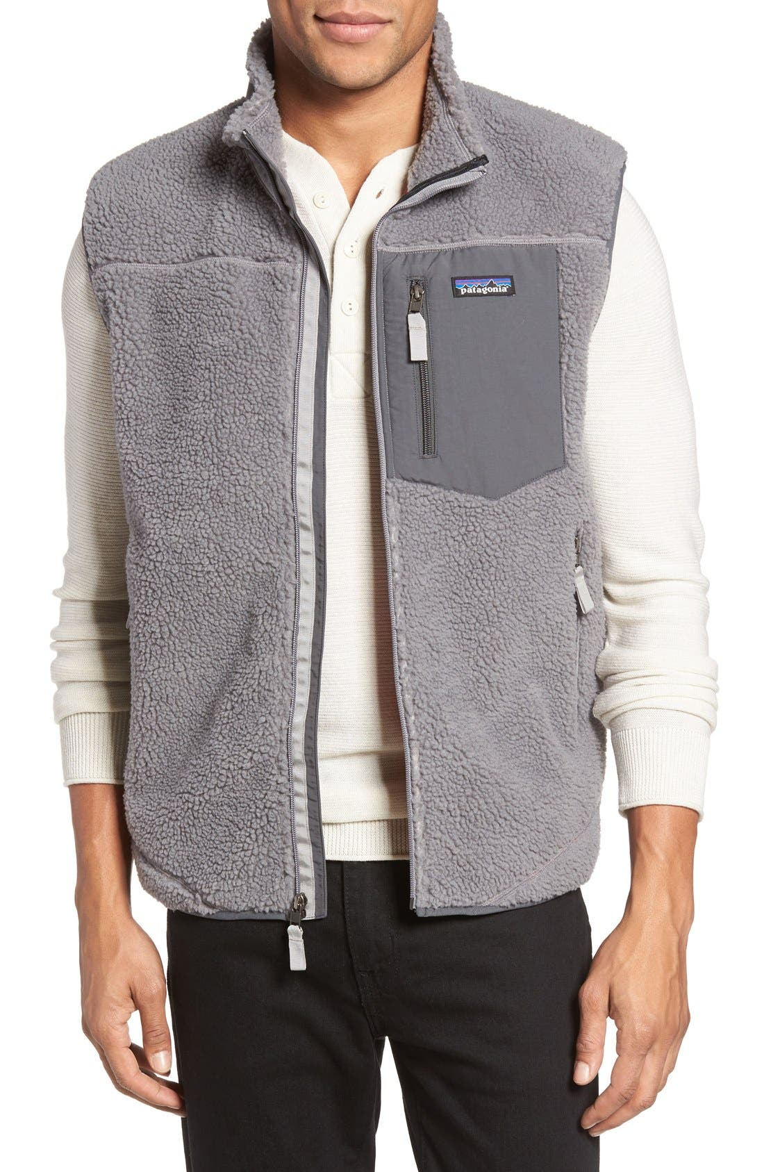 Classic Retro-X<sup>®</sup> Waterproof Vest,                             Main thumbnail 1, color,                             Feather Grey