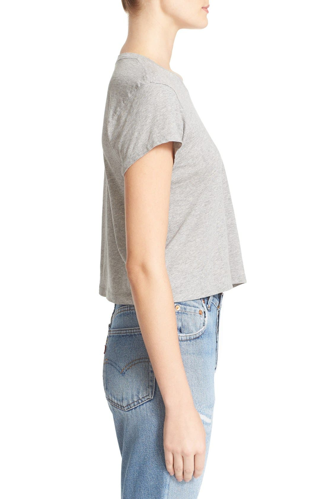 1950s Boxy Tee,                             Alternate thumbnail 3, color,                             Heather