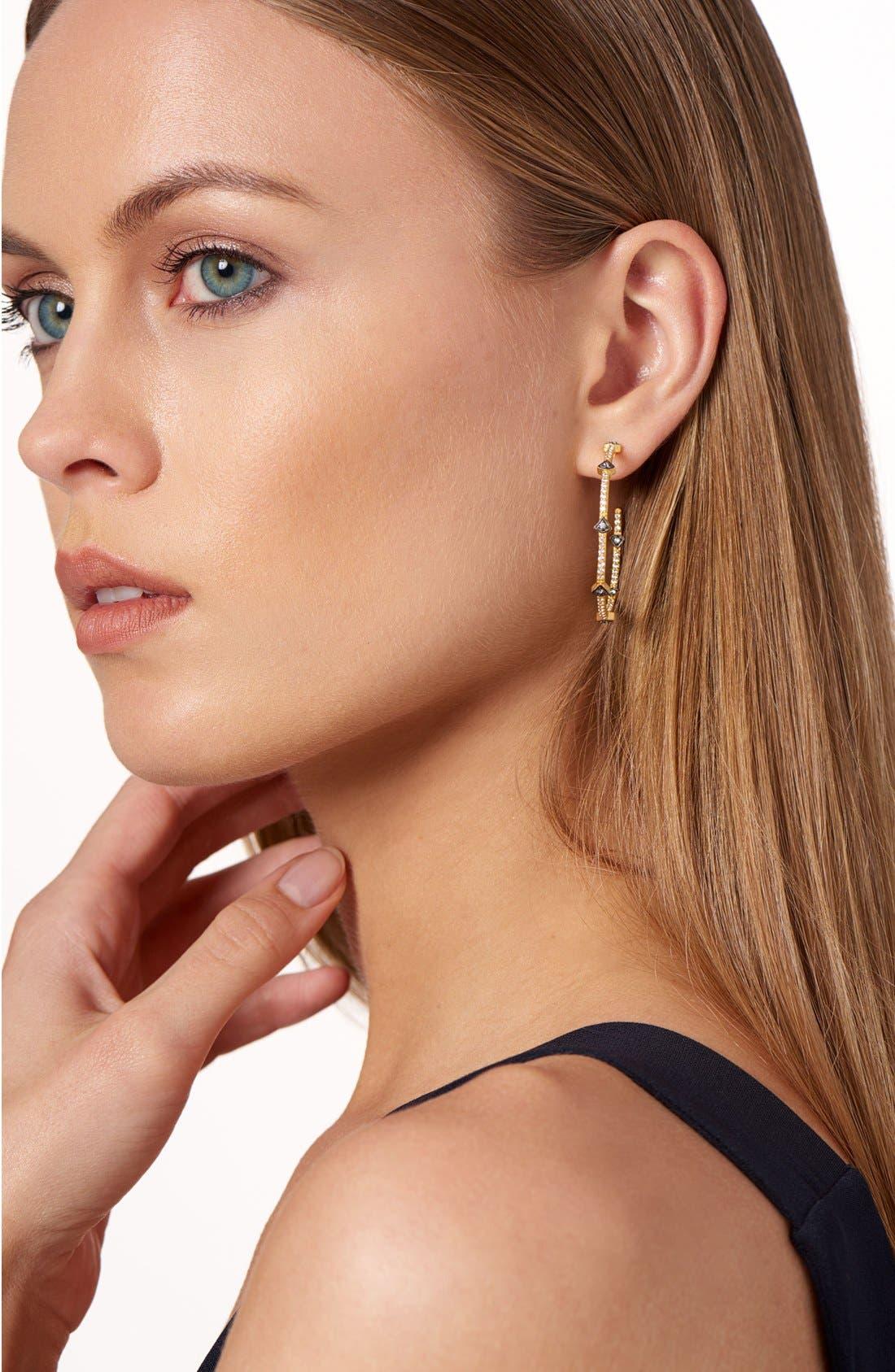 Alternate Image 4  - FREIDA ROTHMAN 'Metropolitan' Inside Out Hoop Earrings