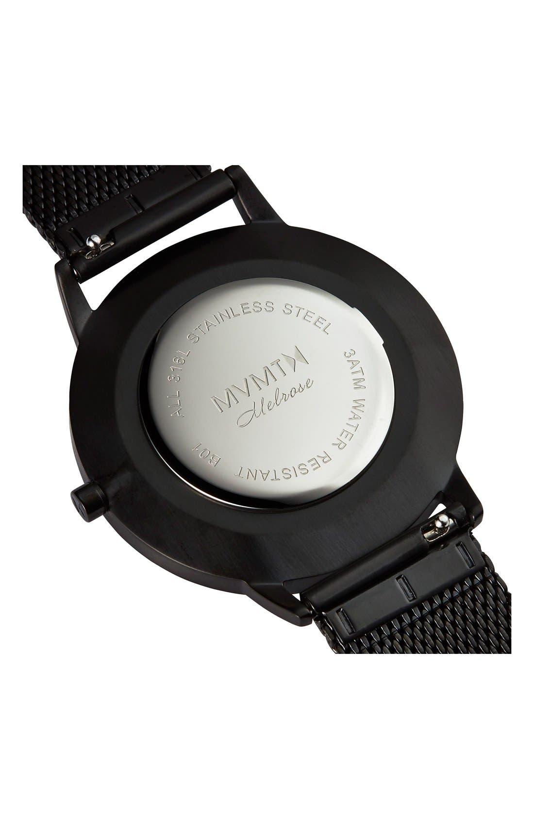 Alternate Image 3  - MVMT Boulevard Mesh Strap Watch, 38mm