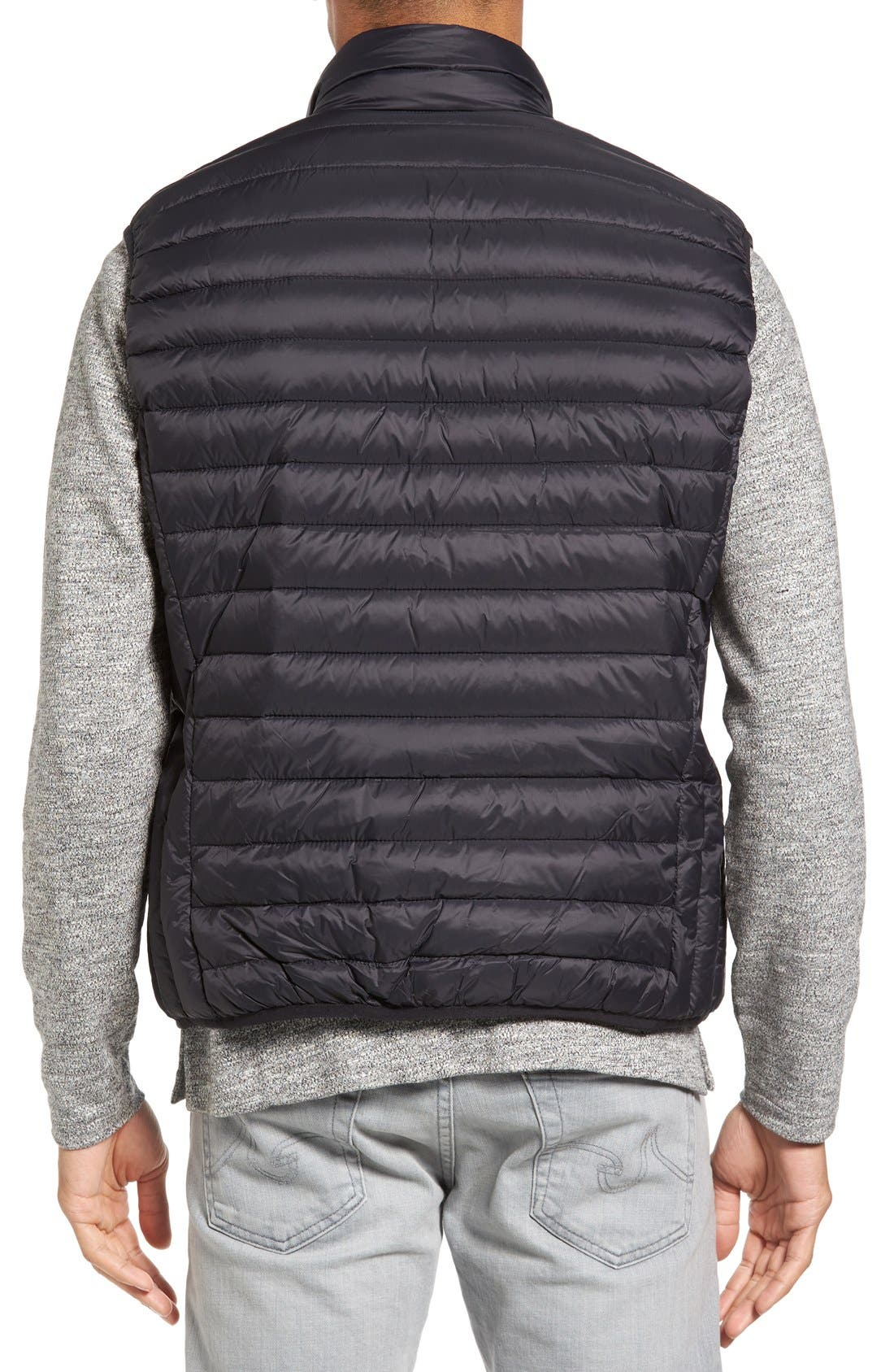 Lightweight Quilted Down Vest,                             Alternate thumbnail 2, color,                             Black