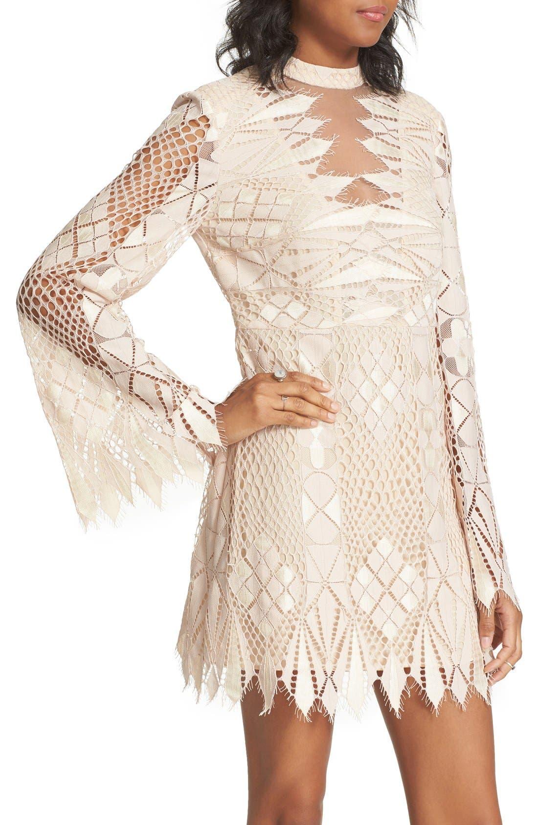 Alternate Image 5  - Free People Deco Crochet Minidress