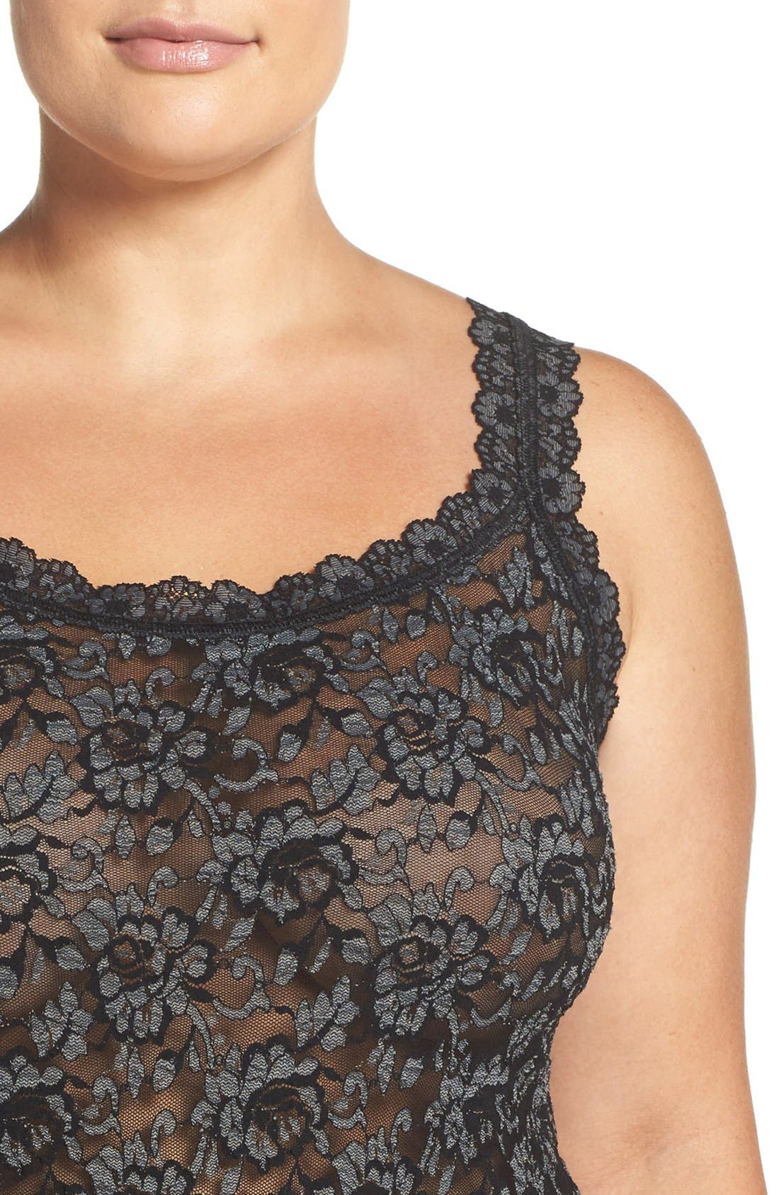 Alternate Image 4  - Hanky Panky Lace Camisole (Plus Size)