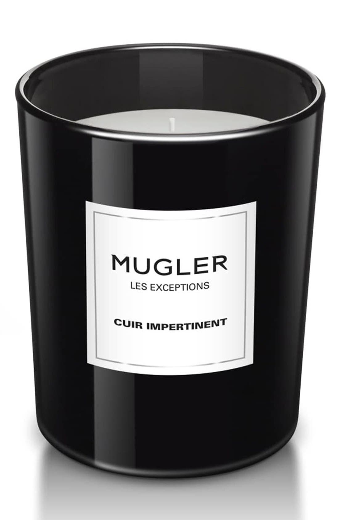 Mugler 'Les Exceptions - Cuir Impertinent' Candle,                         Main,                         color, No Color