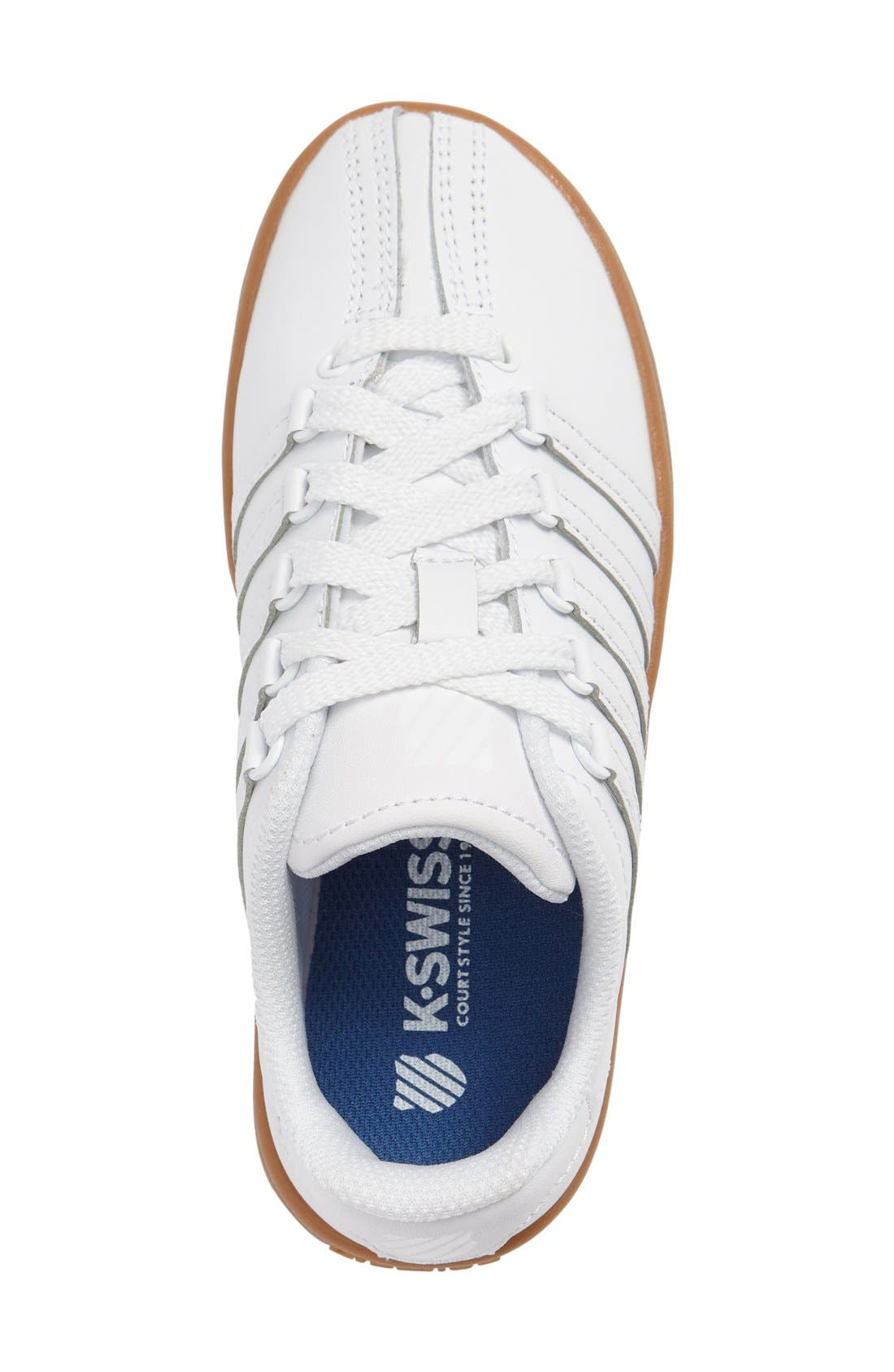 'Classic' Sneaker,                             Alternate thumbnail 3, color,                             White/ Gum