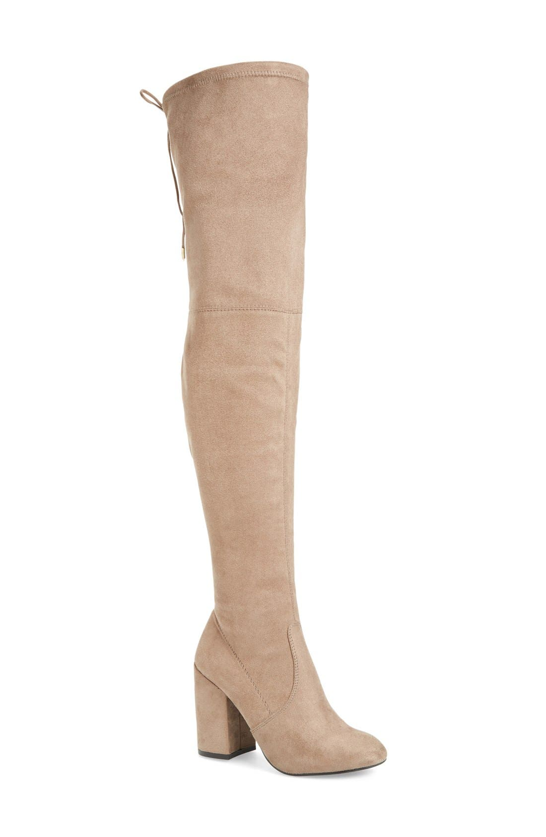 Norri Over the Knee Boot,                             Main thumbnail 1, color,                             Taupe