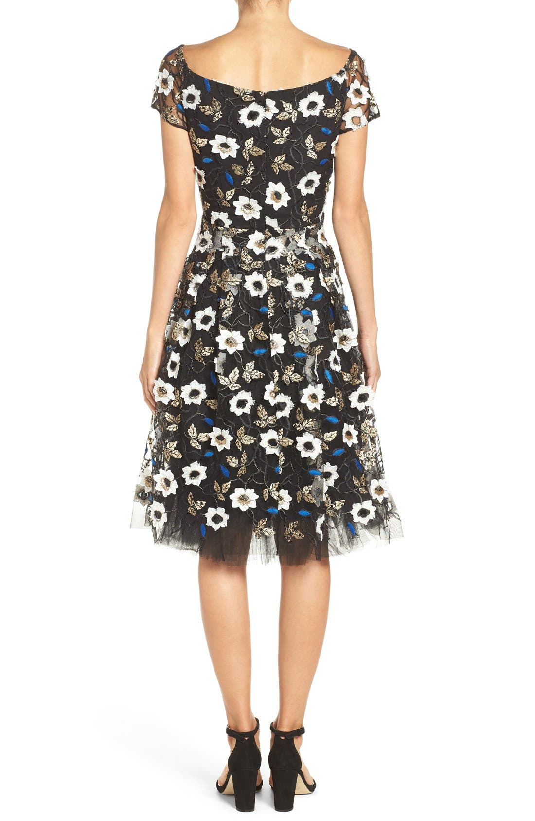 Alternate Image 2  - ECI Sequin Embroidered Fit & Flare Dress