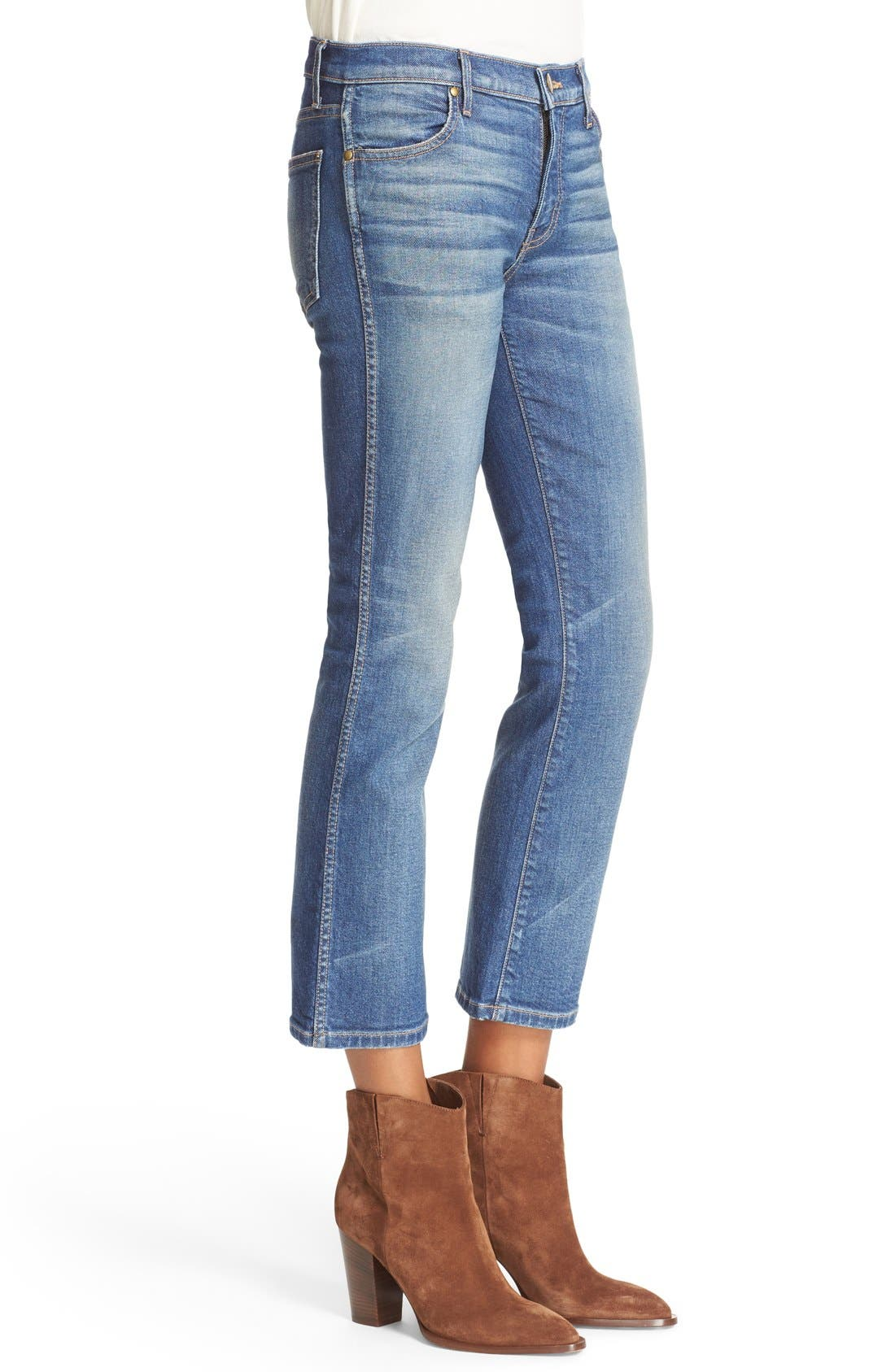 The Nerd Low Rise Crop Jeans,                             Alternate thumbnail 4, color,                             Trail Wash