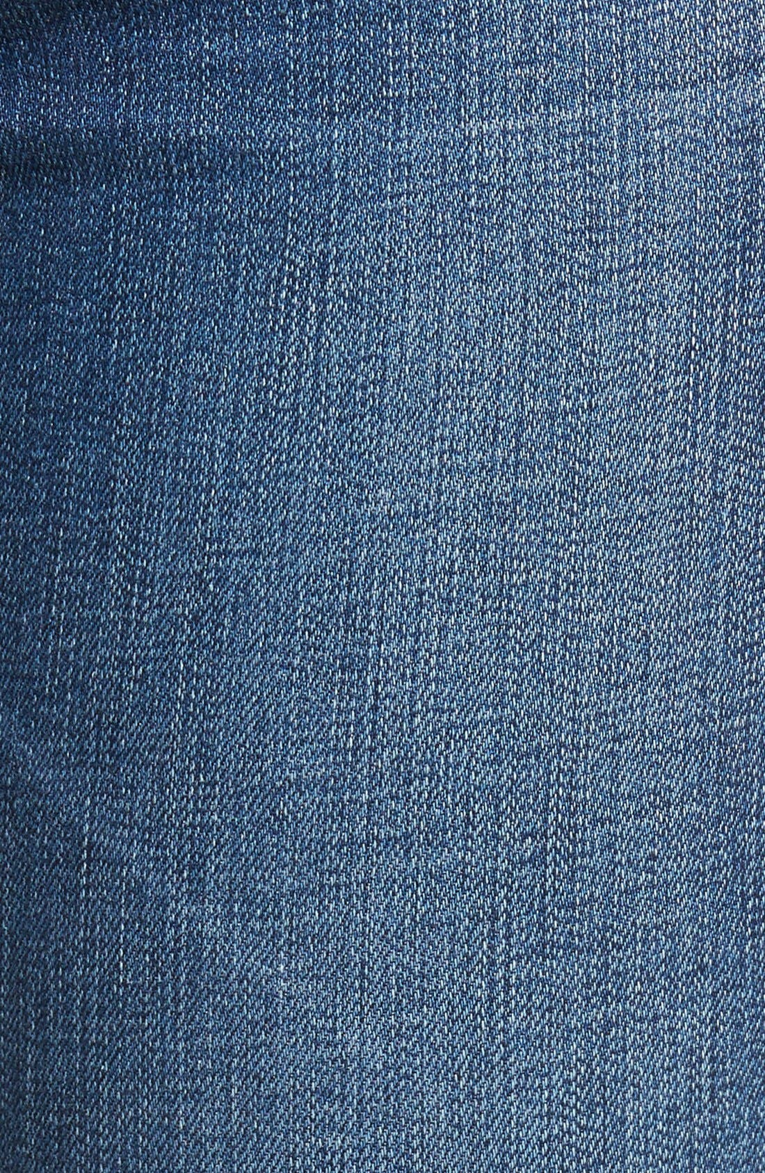 'The Legging' Ankle Jeans,                             Alternate thumbnail 7, color,                             7Yr Break W/ Raw Hem