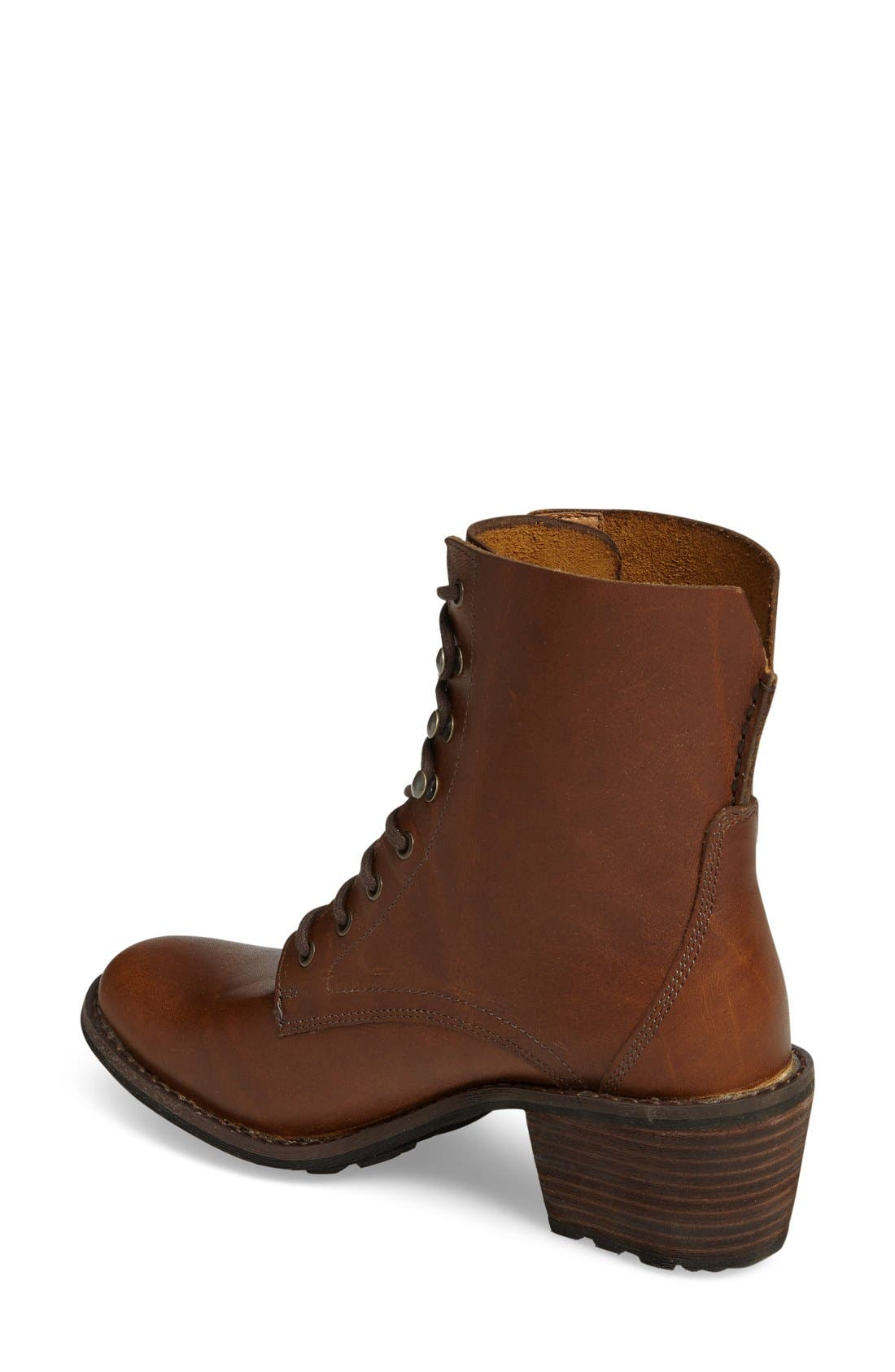Western Territory Water Resistant Bootie,                             Alternate thumbnail 2, color,                             Ginger Leather