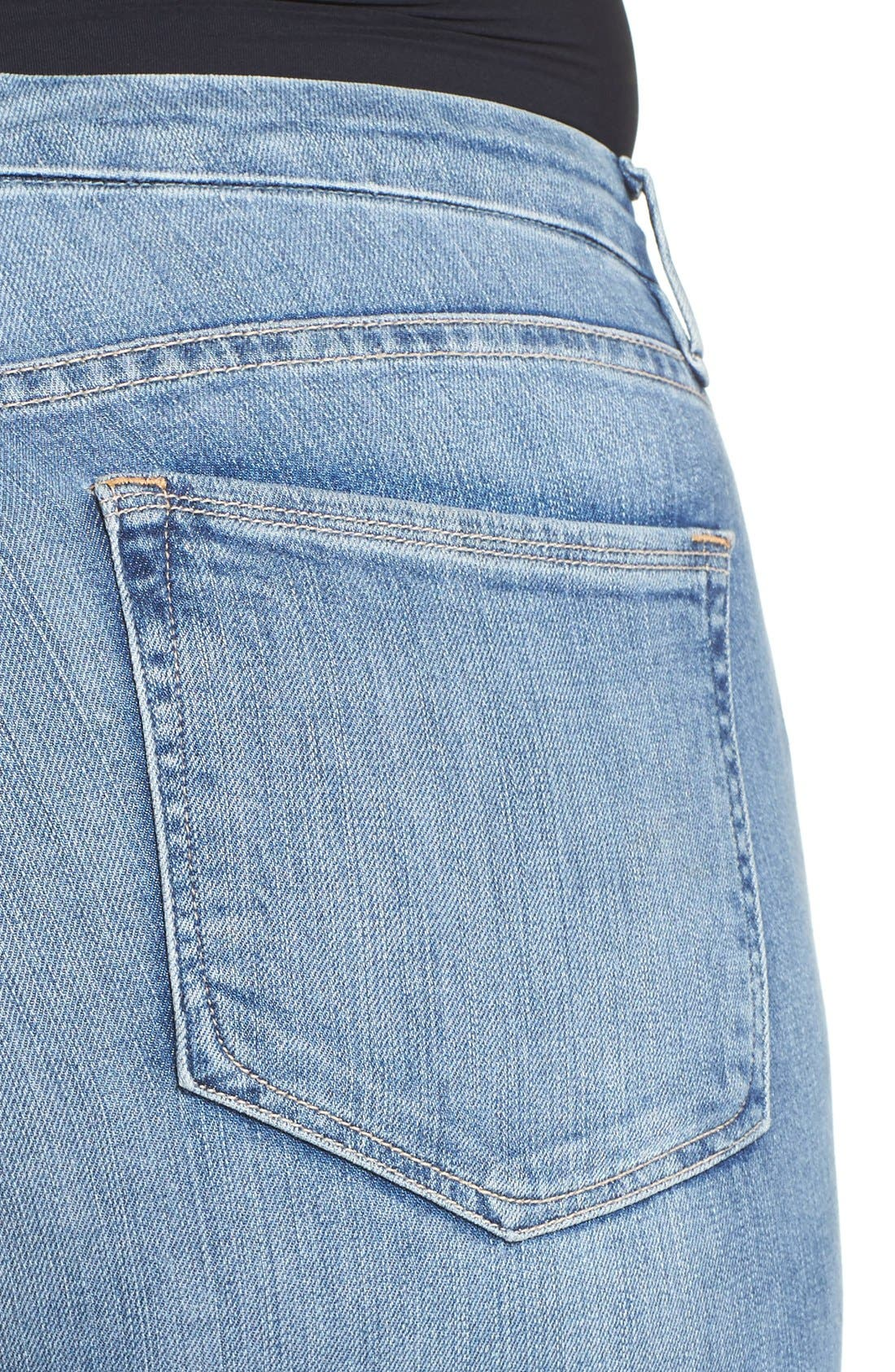 Alternate Image 9  - Good American Good Legs High Waist Skinny Jeans (Blue 007) (Extended Sizes)