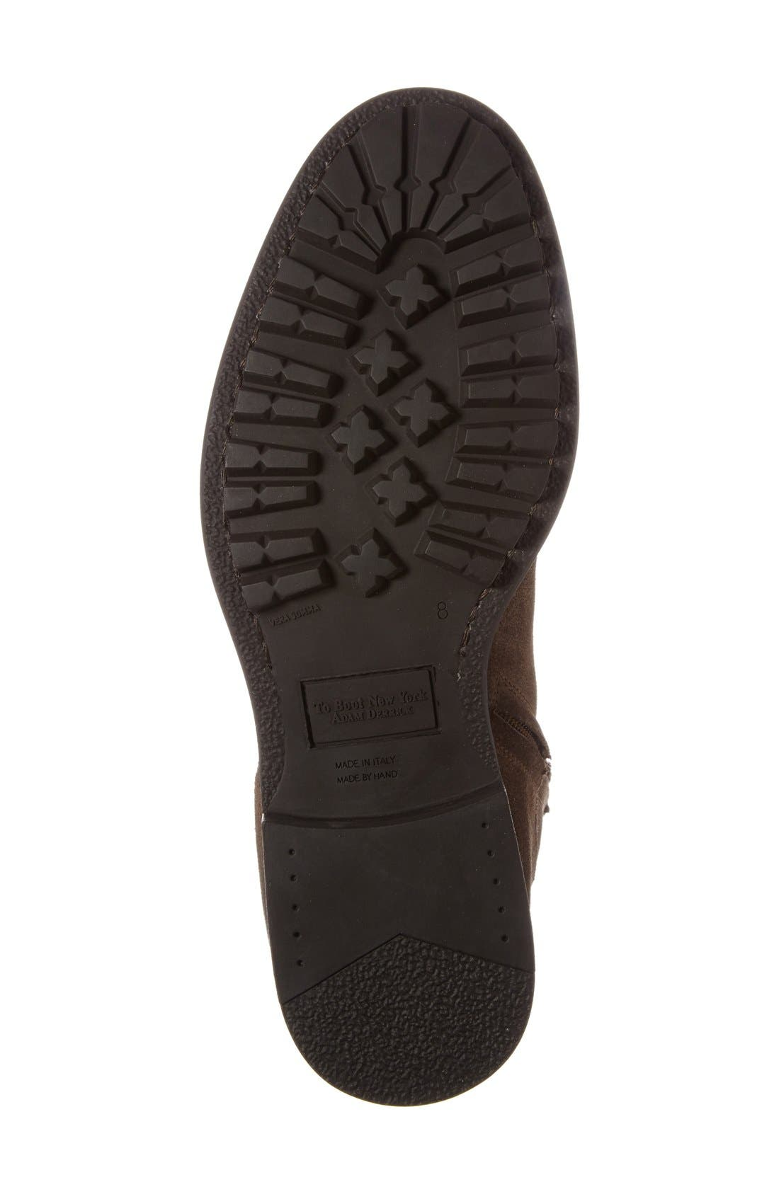 'Harrison' Zip Boot,                             Alternate thumbnail 4, color,                             Brown