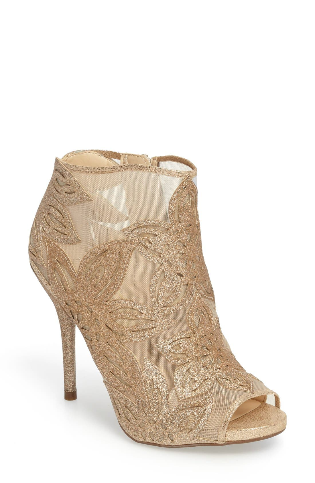 Alternate Image 1 Selected - Jessica Simpson Bliths Open Toe Bootie (Women)