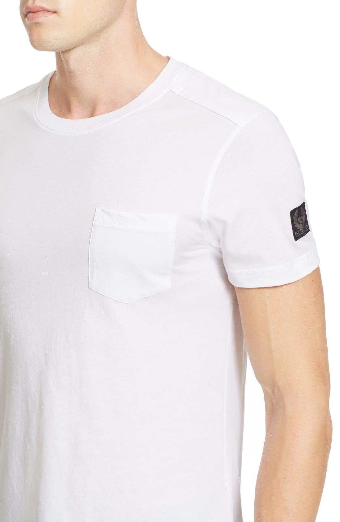 New Thom Heritage Jersey T-Shirt,                             Alternate thumbnail 4, color,                             White