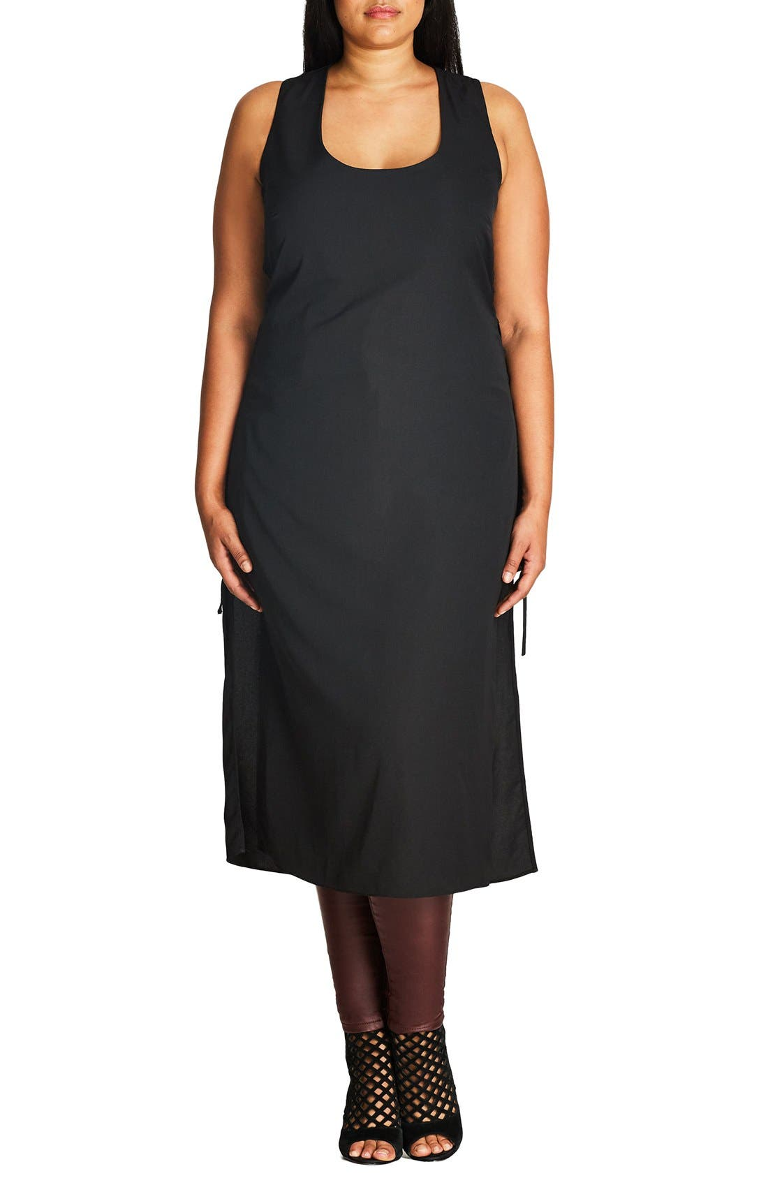 CITY CHIC Longline Side Tie Tunic
